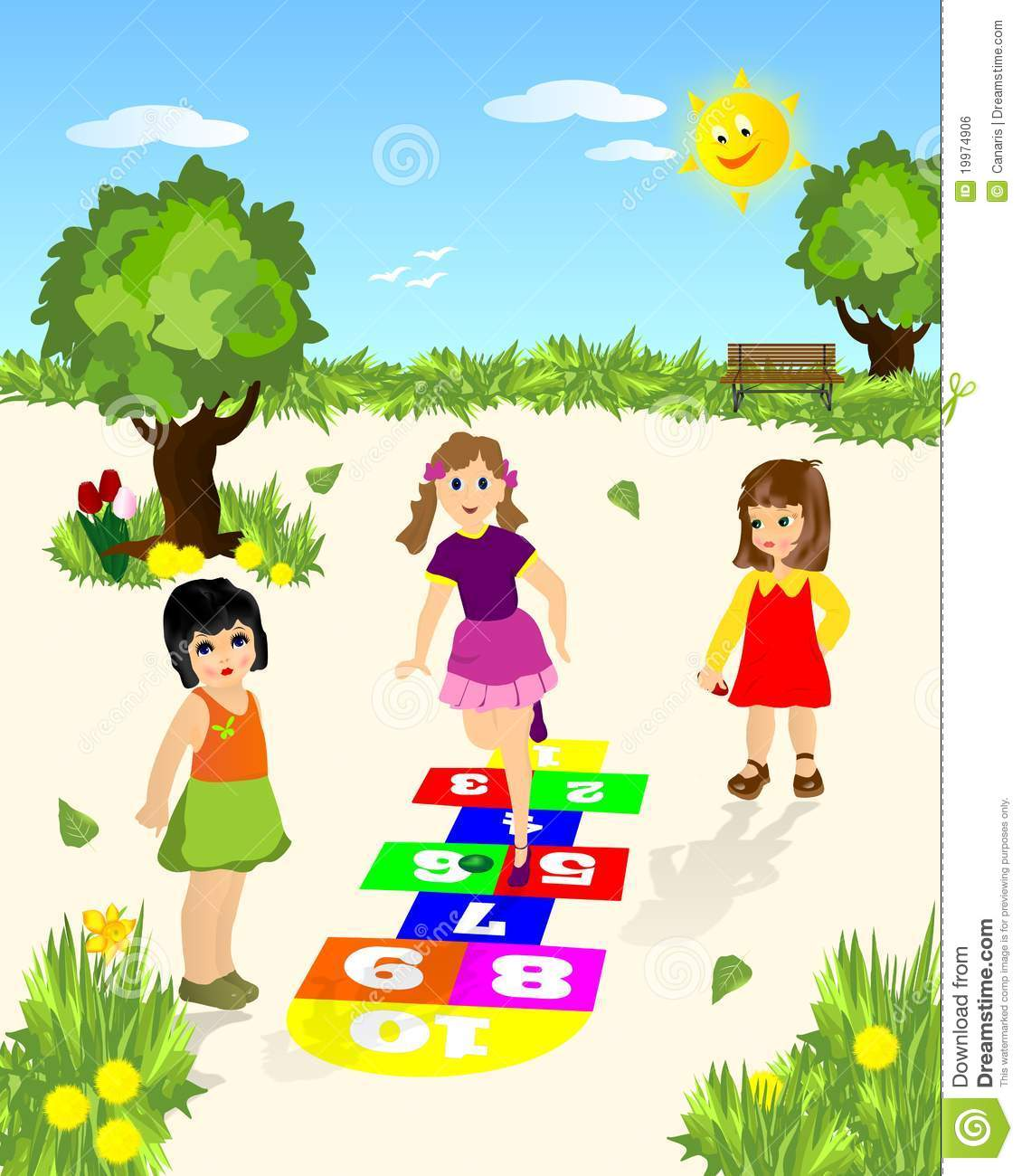 Hopscotch Cdr Vector Royalty Free Stock Image