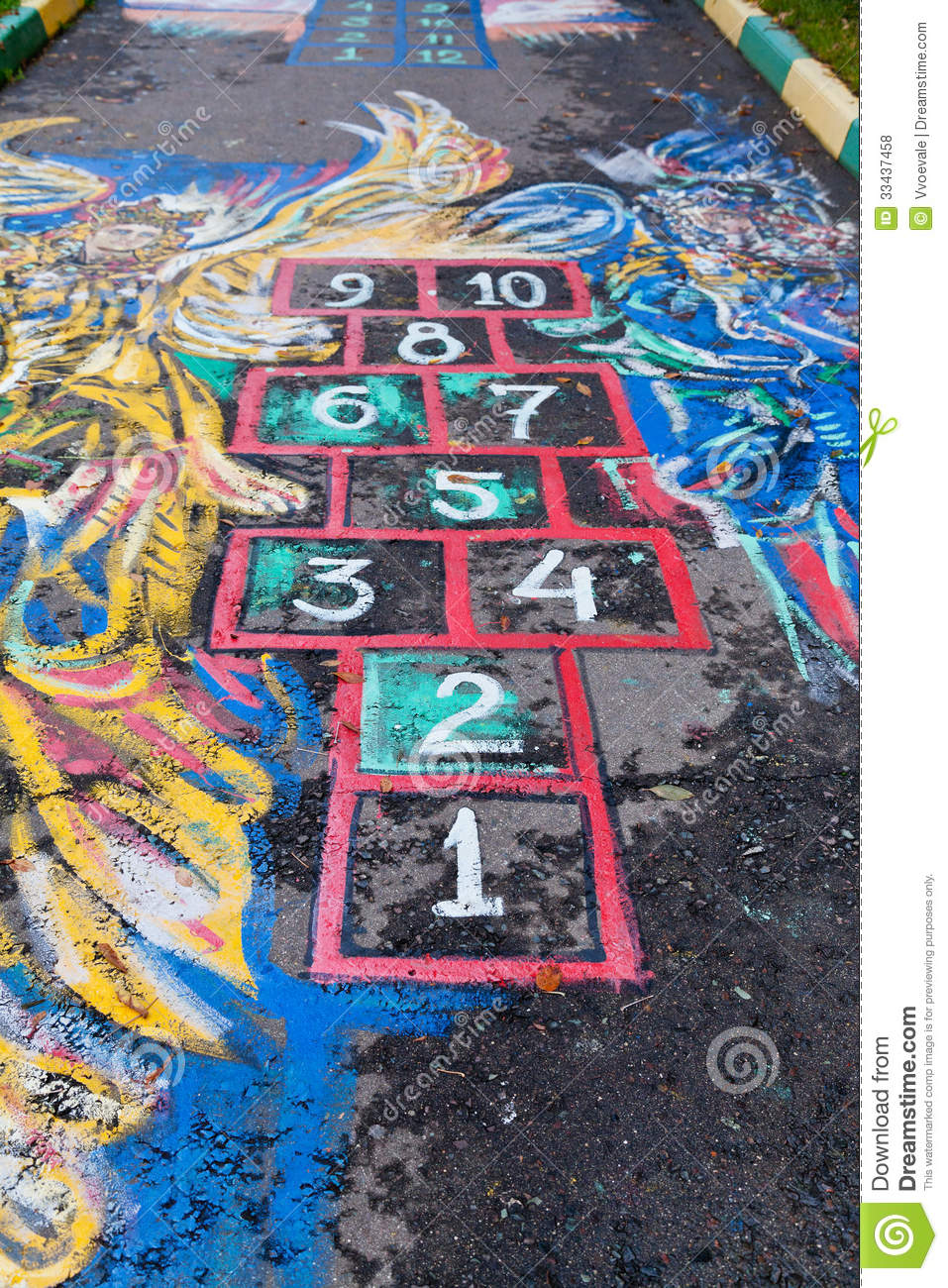 Hopscotch Court Royalty Free Stock Photos - Image: 33437458