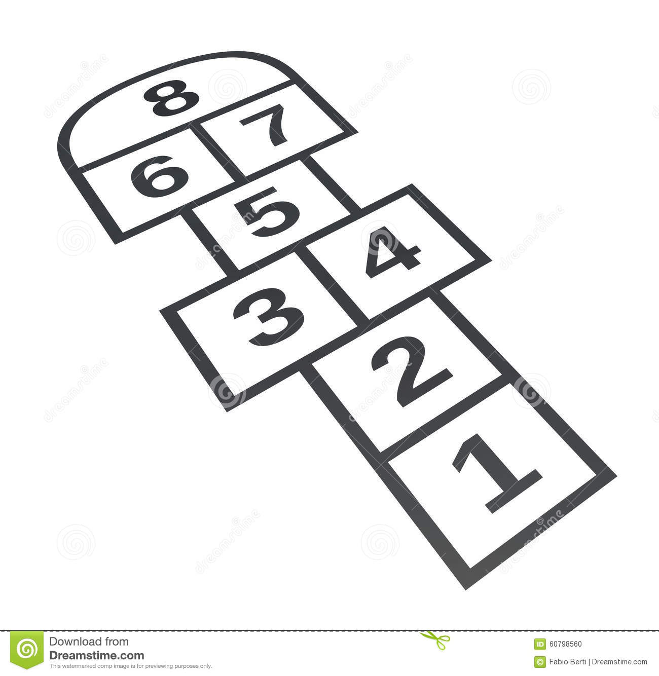 Hopscotch. Isolated On White Background Stock Illustration - Image ...