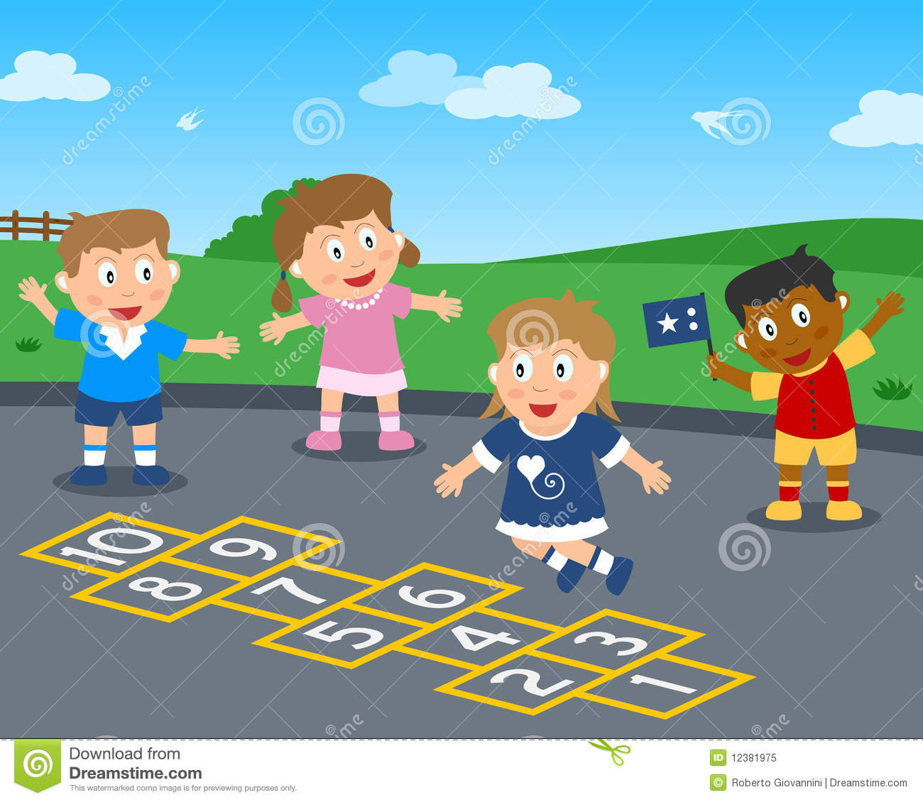 Hopscotch In The Park Royalty Free Stock Photo Image
