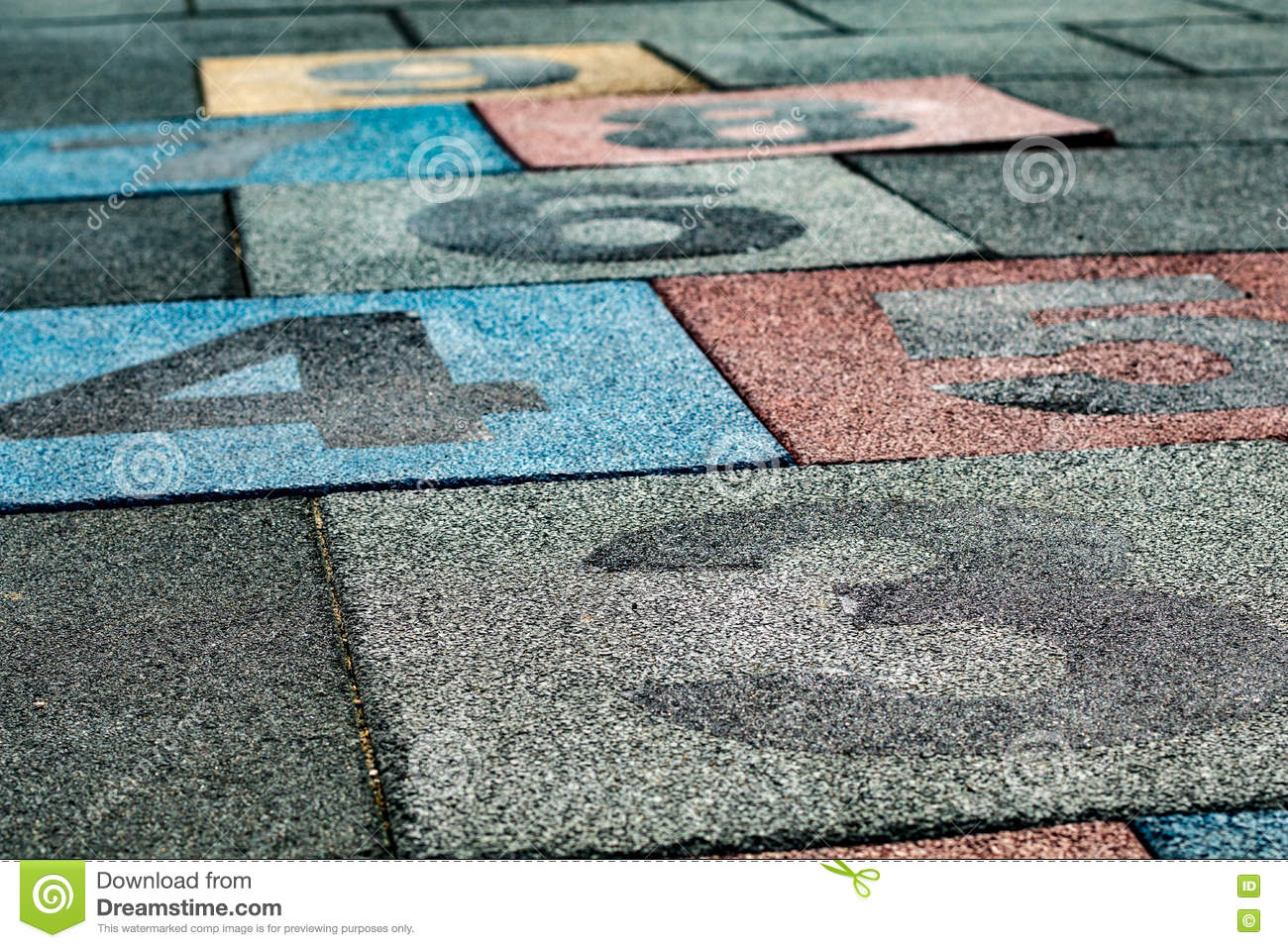 Hopscotch rubber playground flooring stock image image of hopscotch rubber playground flooring dailygadgetfo Images