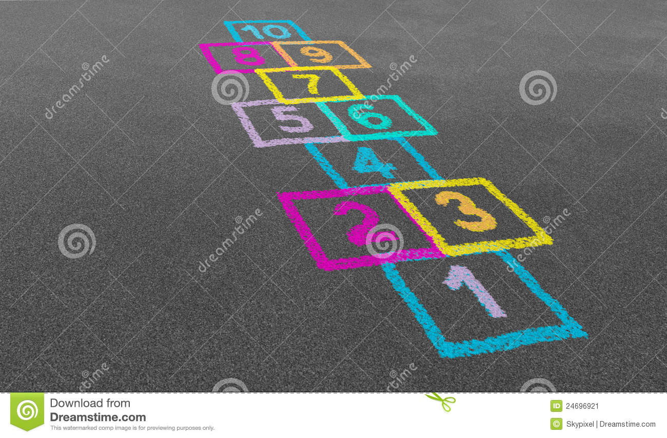 Hopscotch In A School Stock Image Image 24696921