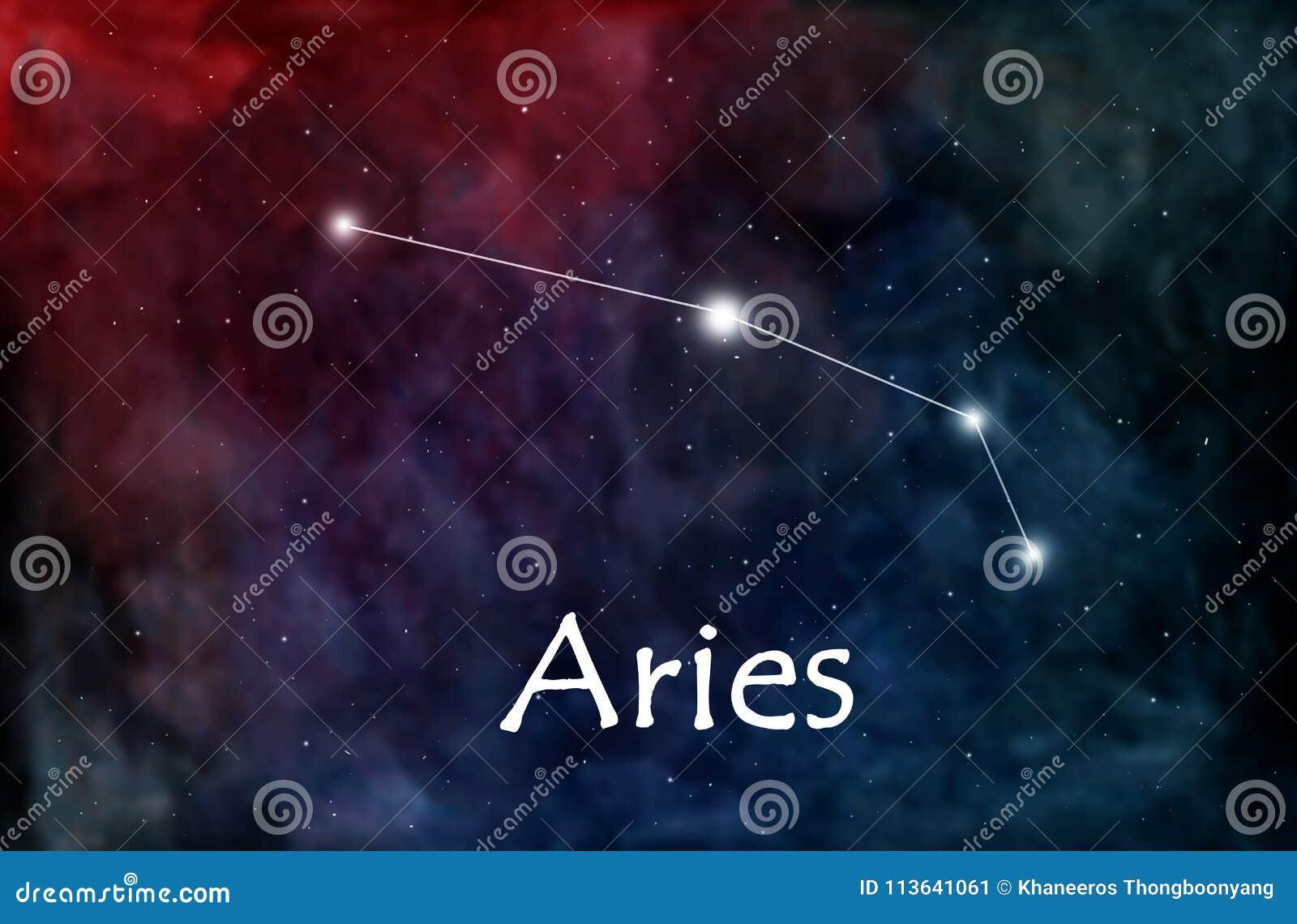 Horóscopo do Áries ou ilustração do zodíaco ou da constelação