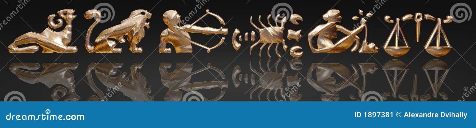 Horóscopo - zodiaco - metal del oro