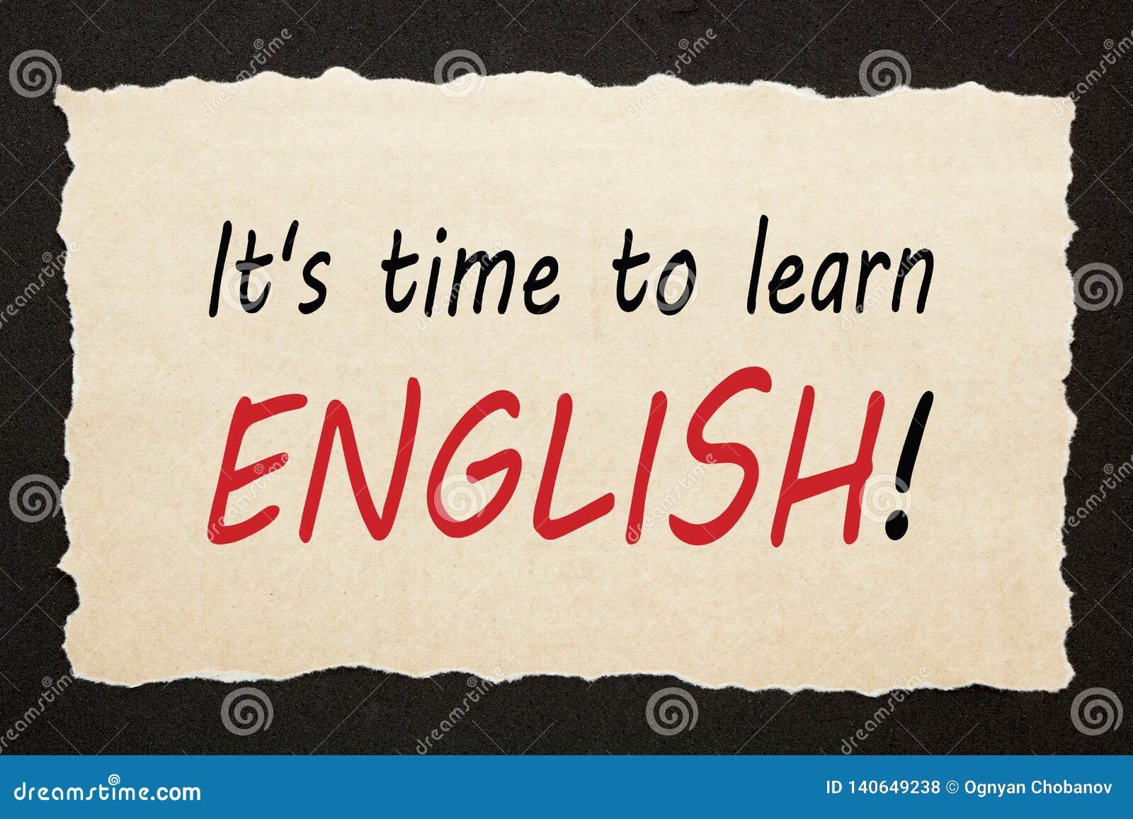 Hora de aprender inglês