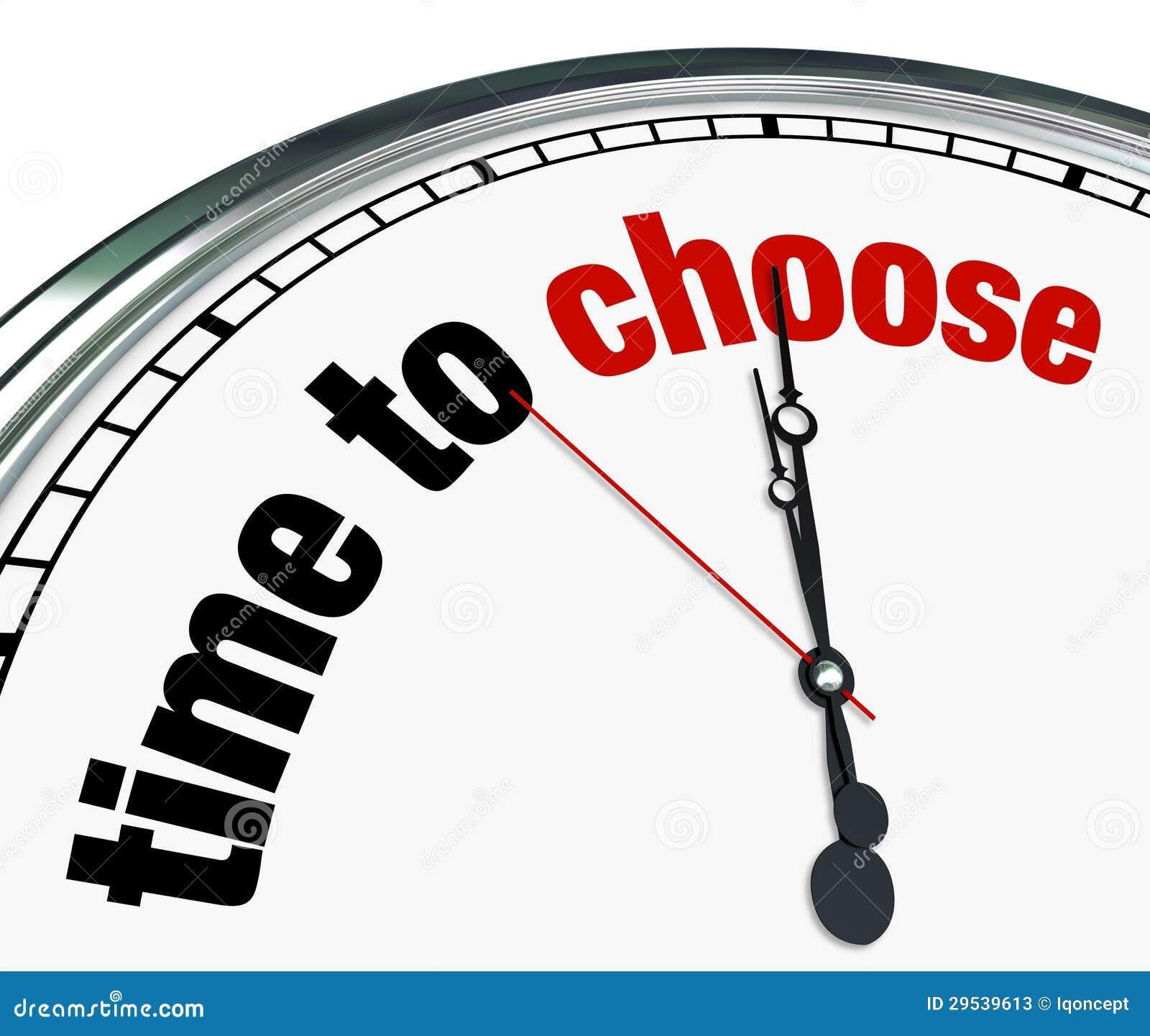 Hora de escolher - o pulso de disparo lembra para decidir
