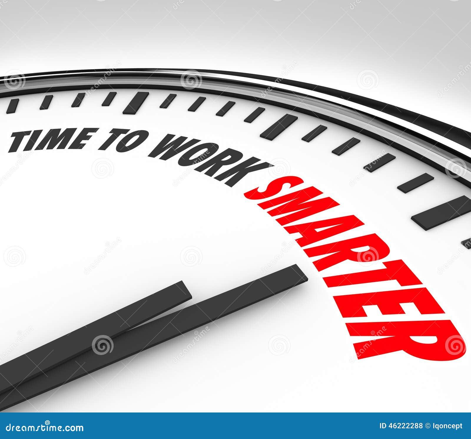 Hora de trabalhar o conselho mais esperto da eficiência da produtividade do pulso de disparo