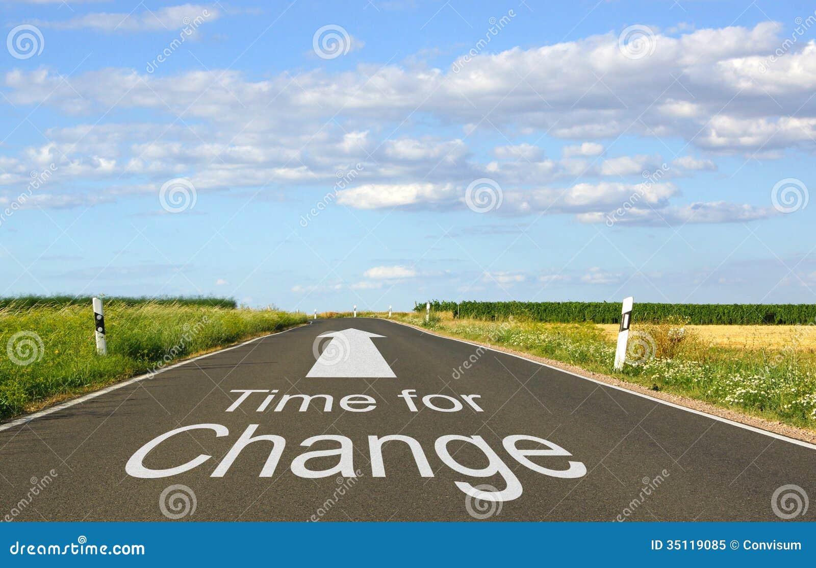 Hora para la muestra del cambio