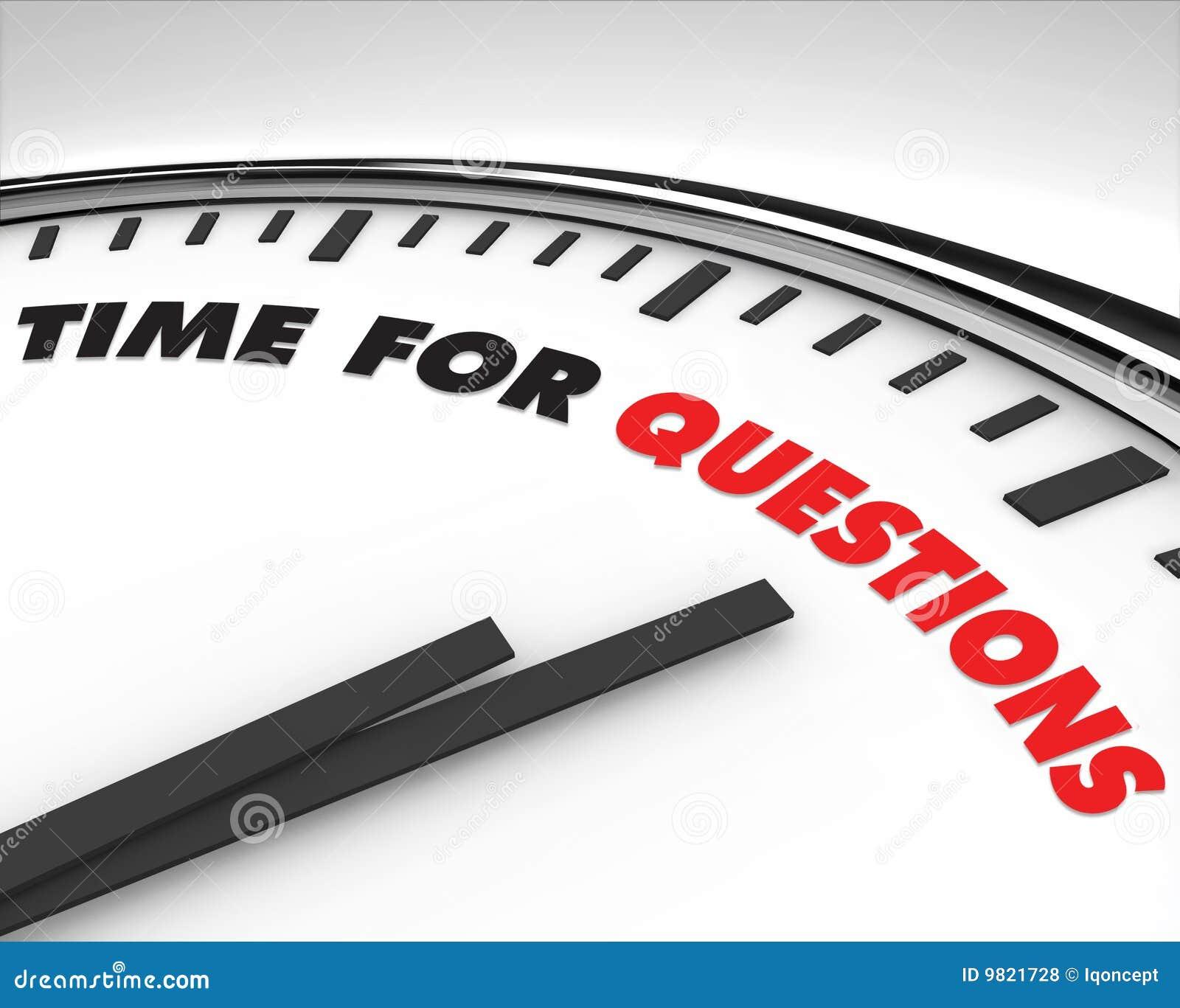 Hora para las preguntas - reloj