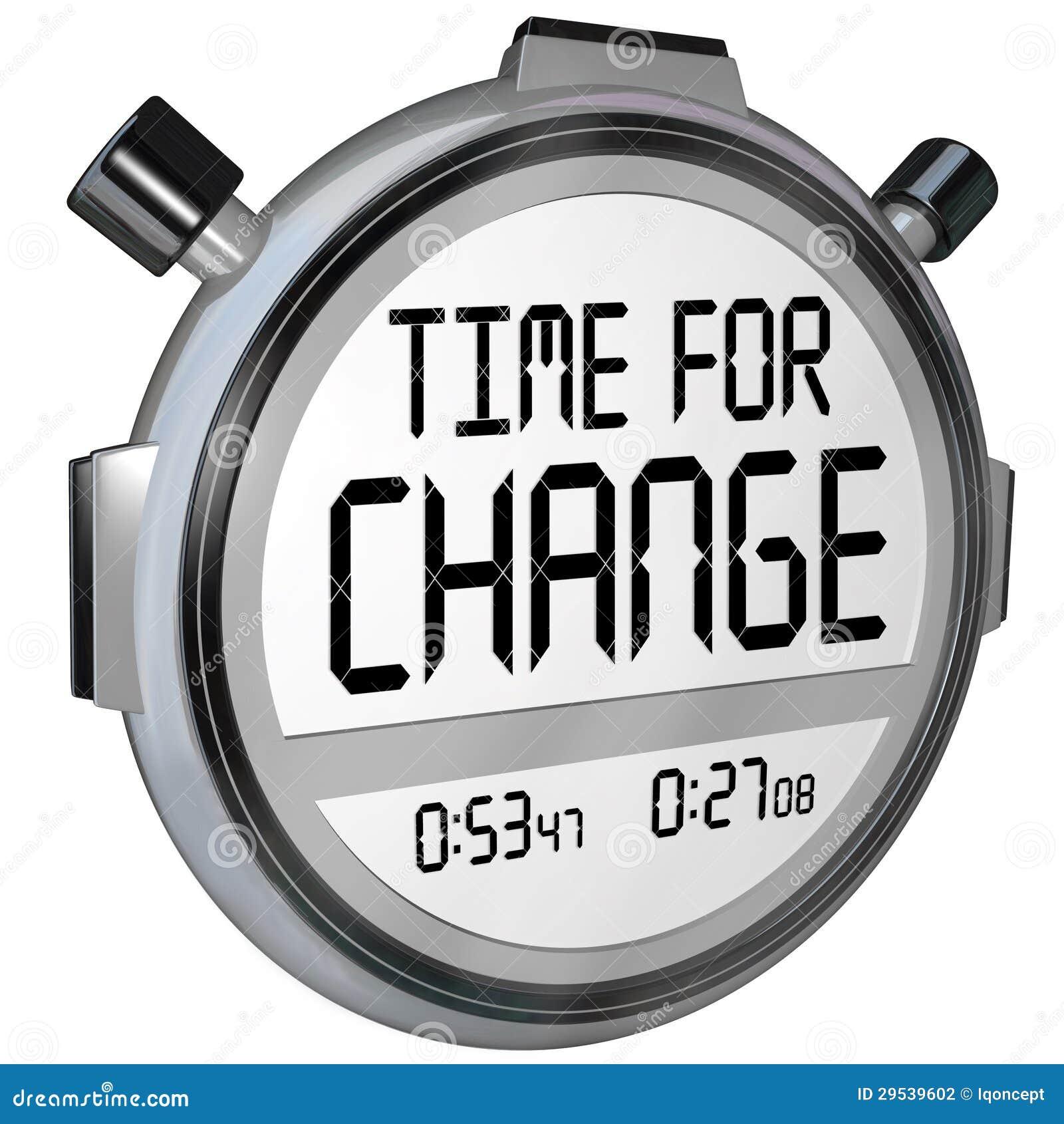 Hora para o pulso de disparo do temporizador do cronômetro da mudança