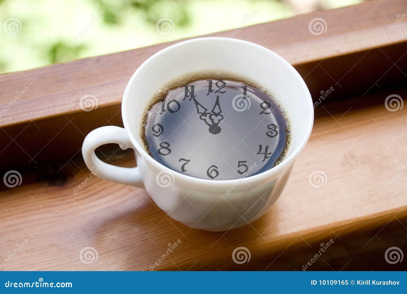 Hora para uma ruptura de café