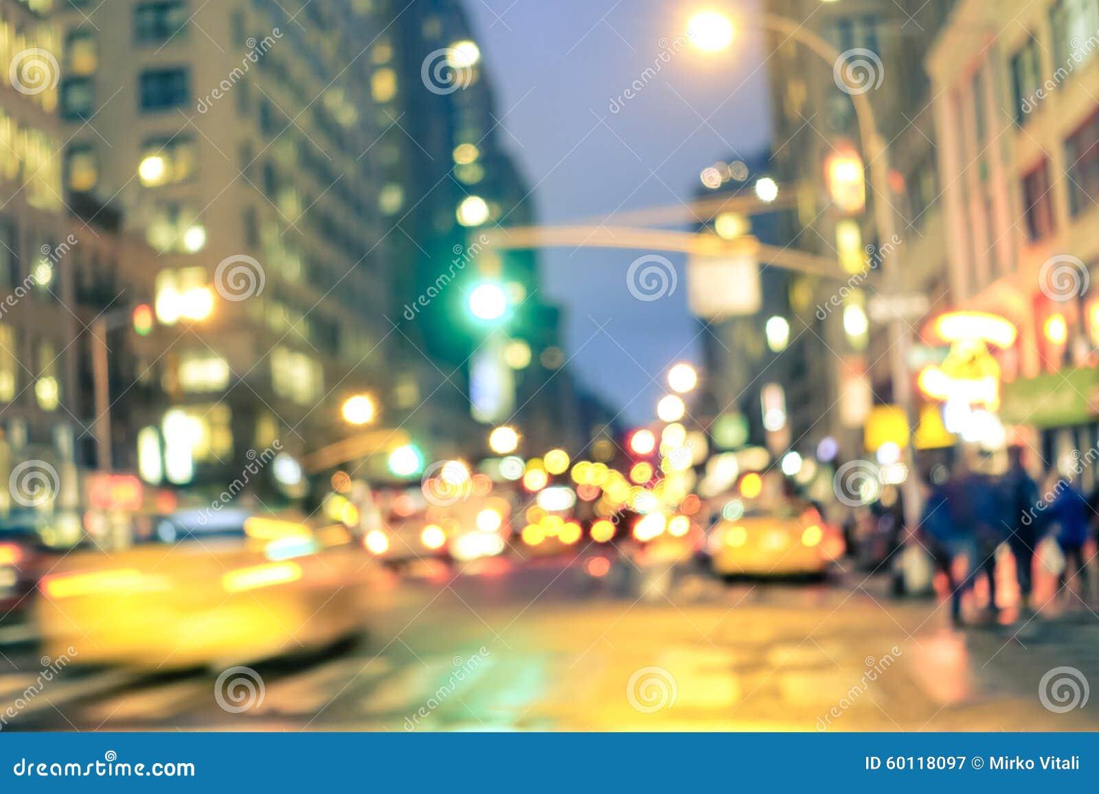 Hora punta y atasco abstractos en New York City