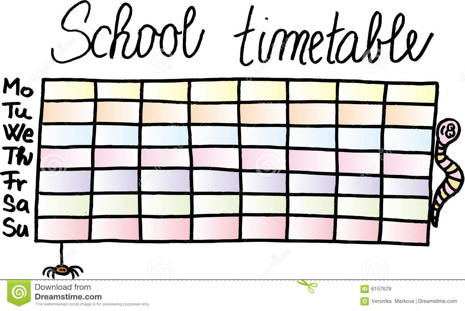 Horaire d école