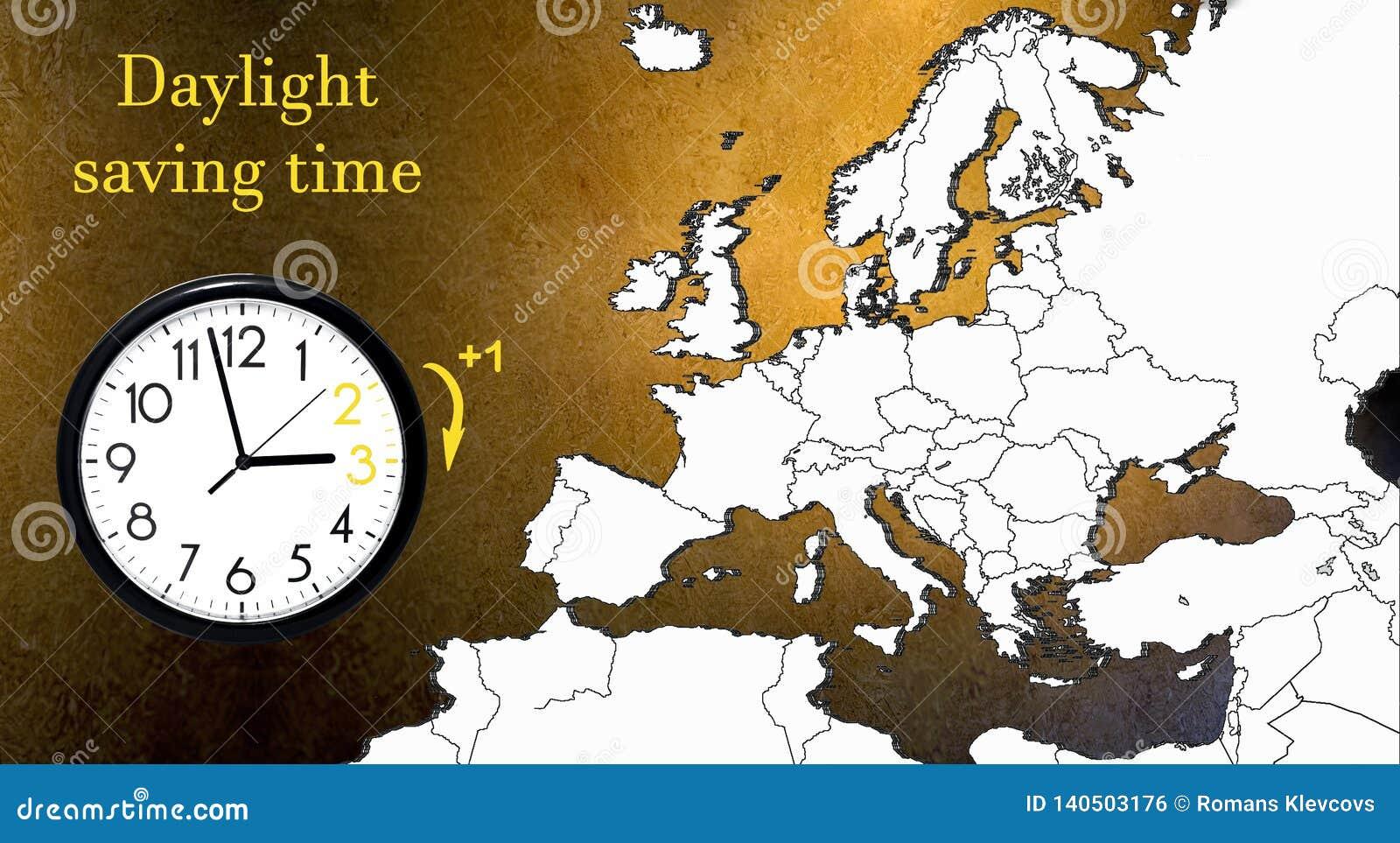 Horario de verano DST Reloj de pared que va invierno Dé vuelta al tiempo delantero