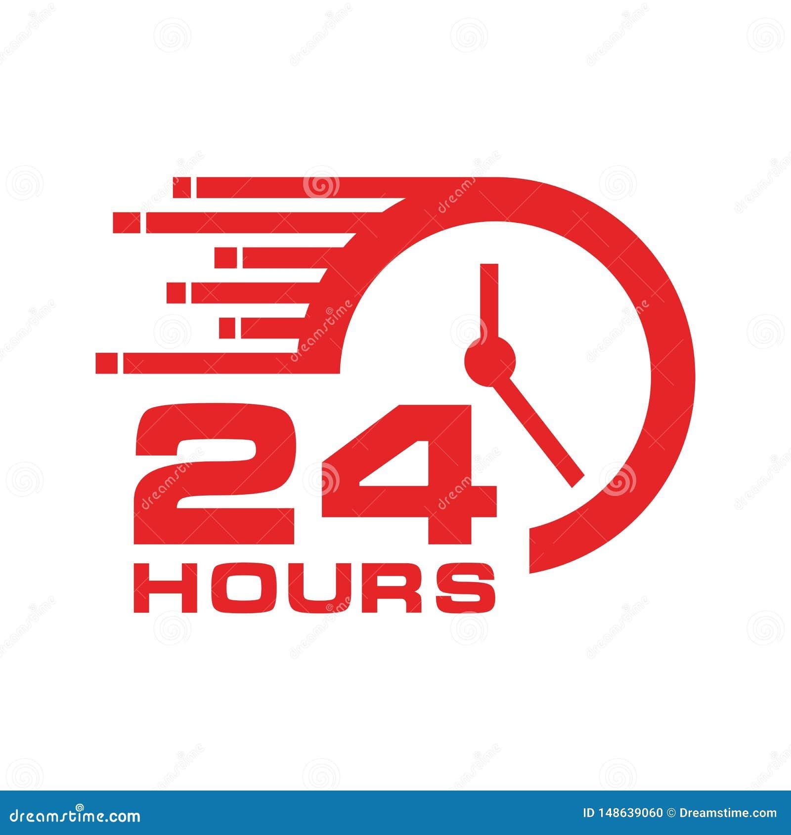 24 horas de icono,
