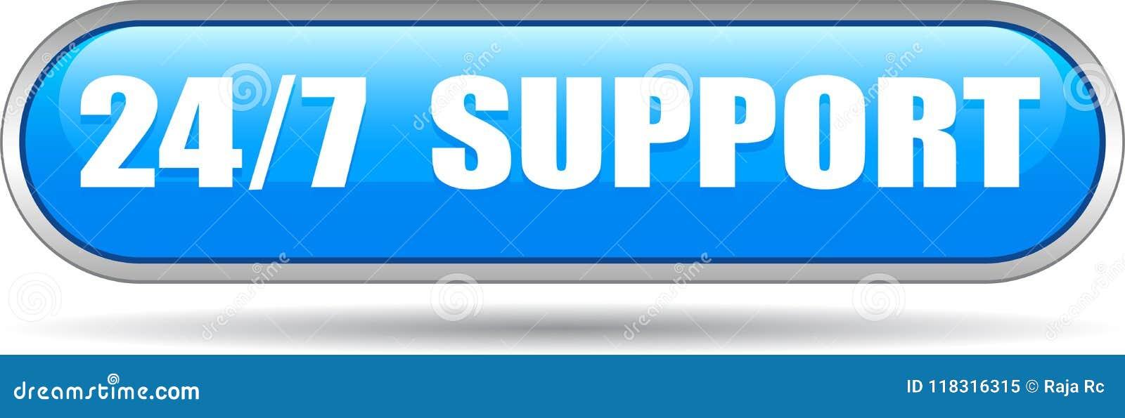 24 horas de la ayuda del web de azul del botón