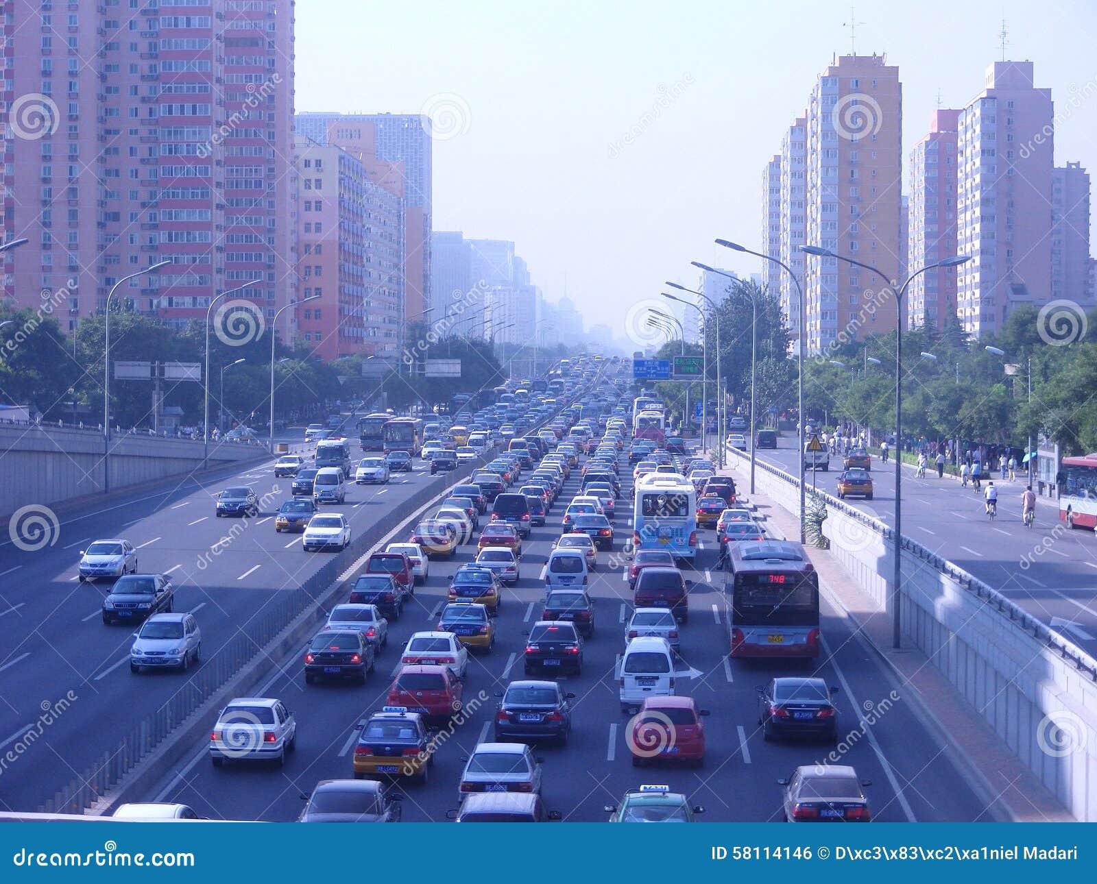Horas de ponta em Peking