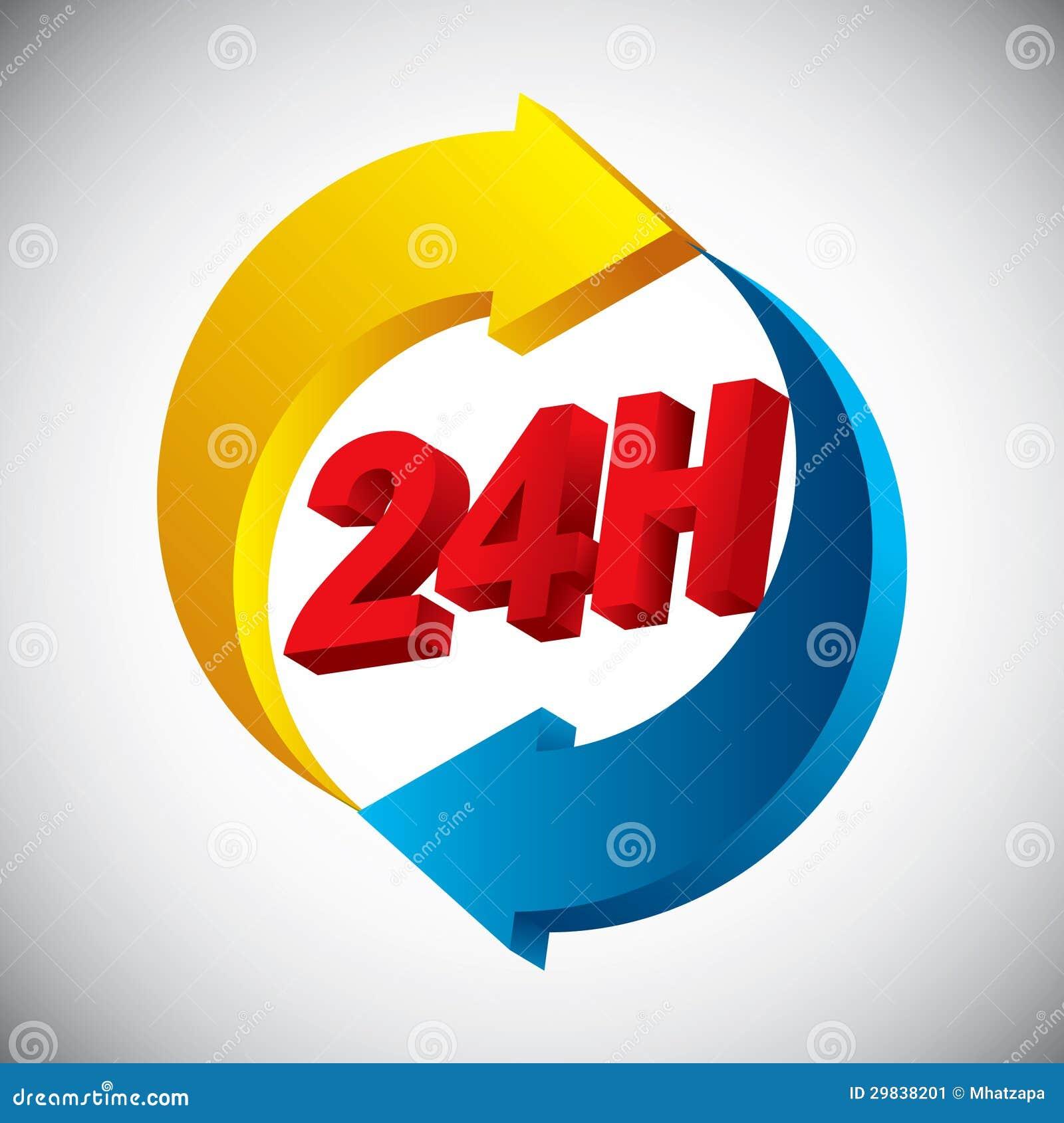 24 horas de ícone