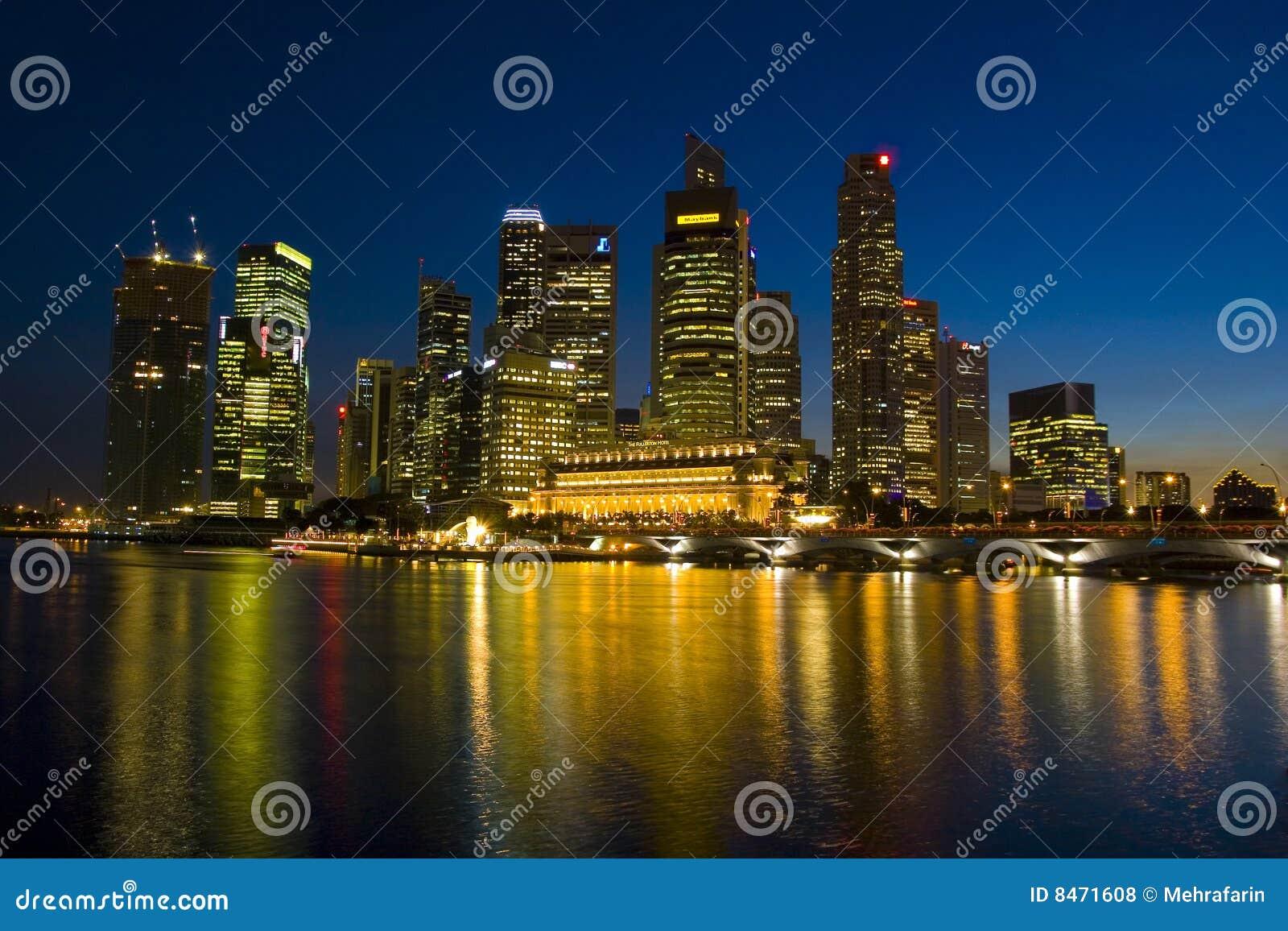 Horisont för natt s singapore