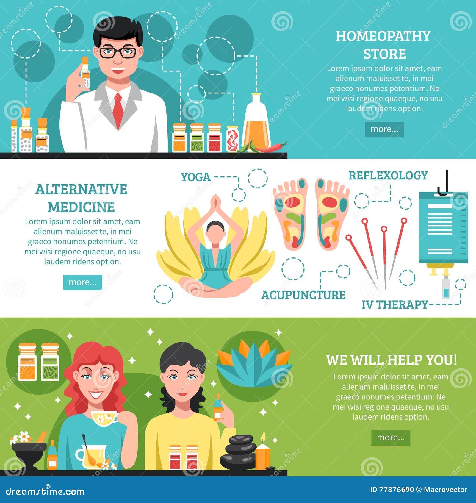 Horisontalbaner för alternativ medicin