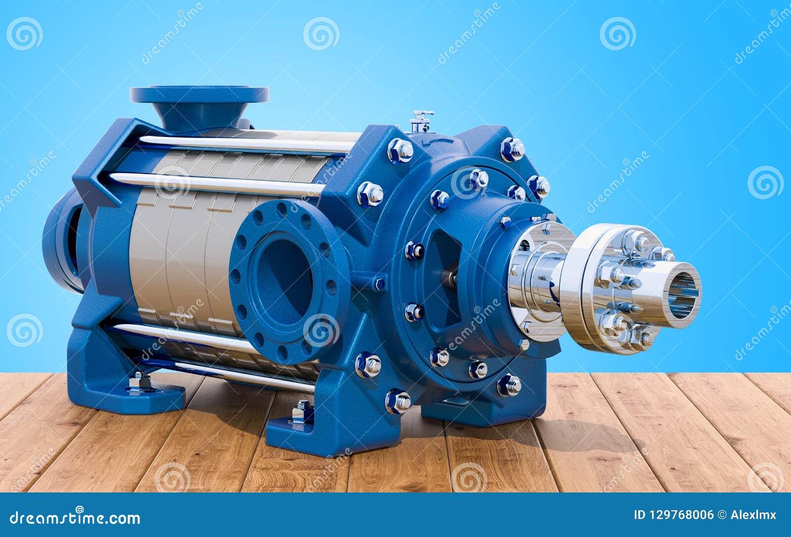 Horisontalmultistage centrifugal pump på trätabellen, 3D r