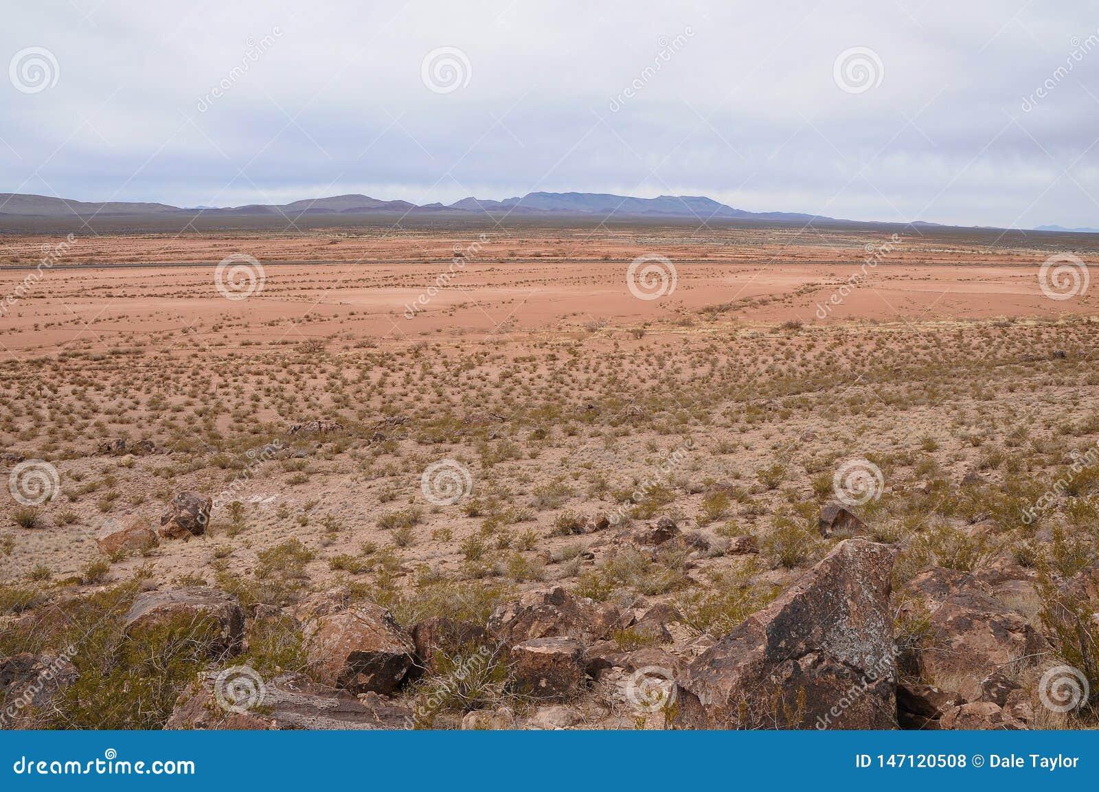 Horisontalsikt av Jornadaen de los Muertos i NM