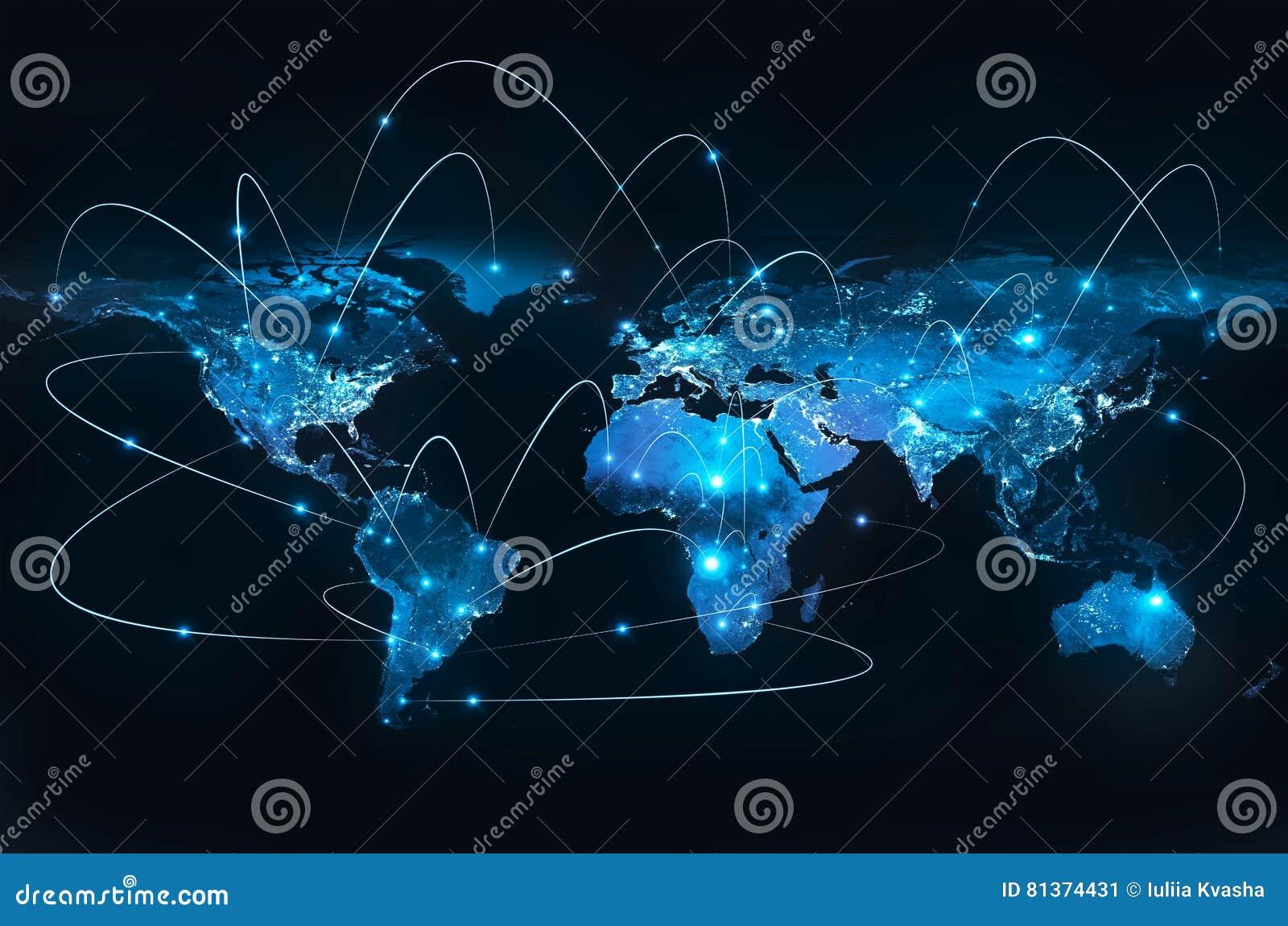 Horisontlinjen för jord 3d framförde avstånd serie för internet för hand för bäst jordklot för affärsidébegrepp globalt glödande