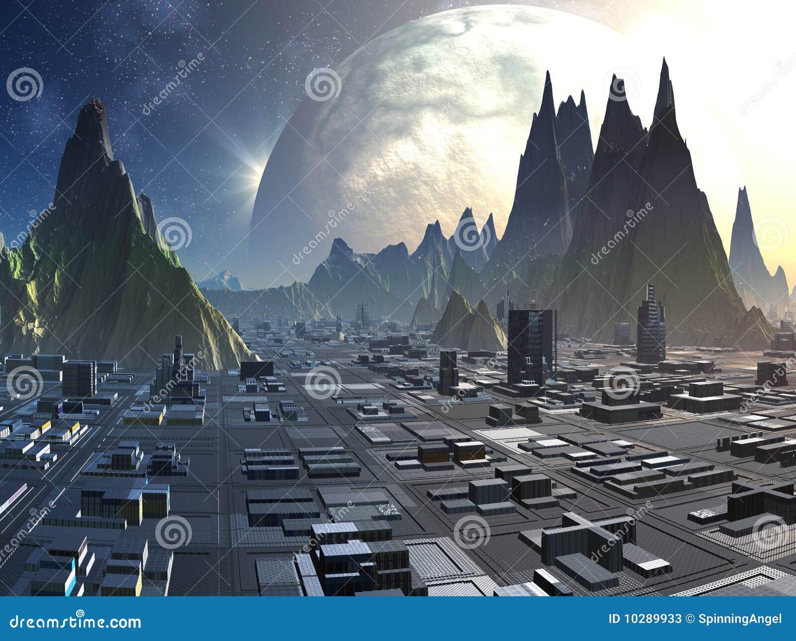 Horizon étranger de ville
