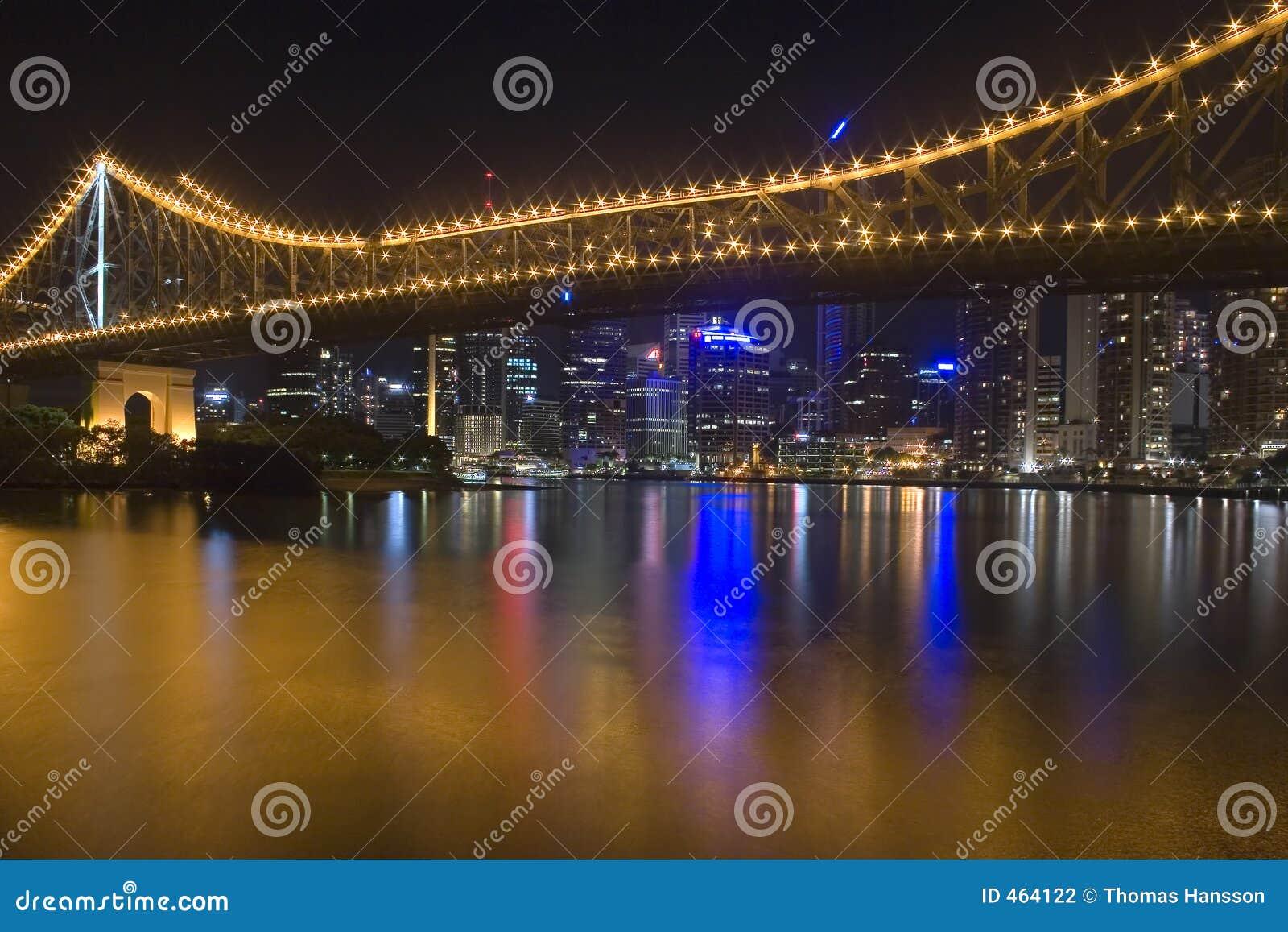 Horizon 1 de nuit de ville de Brisbane