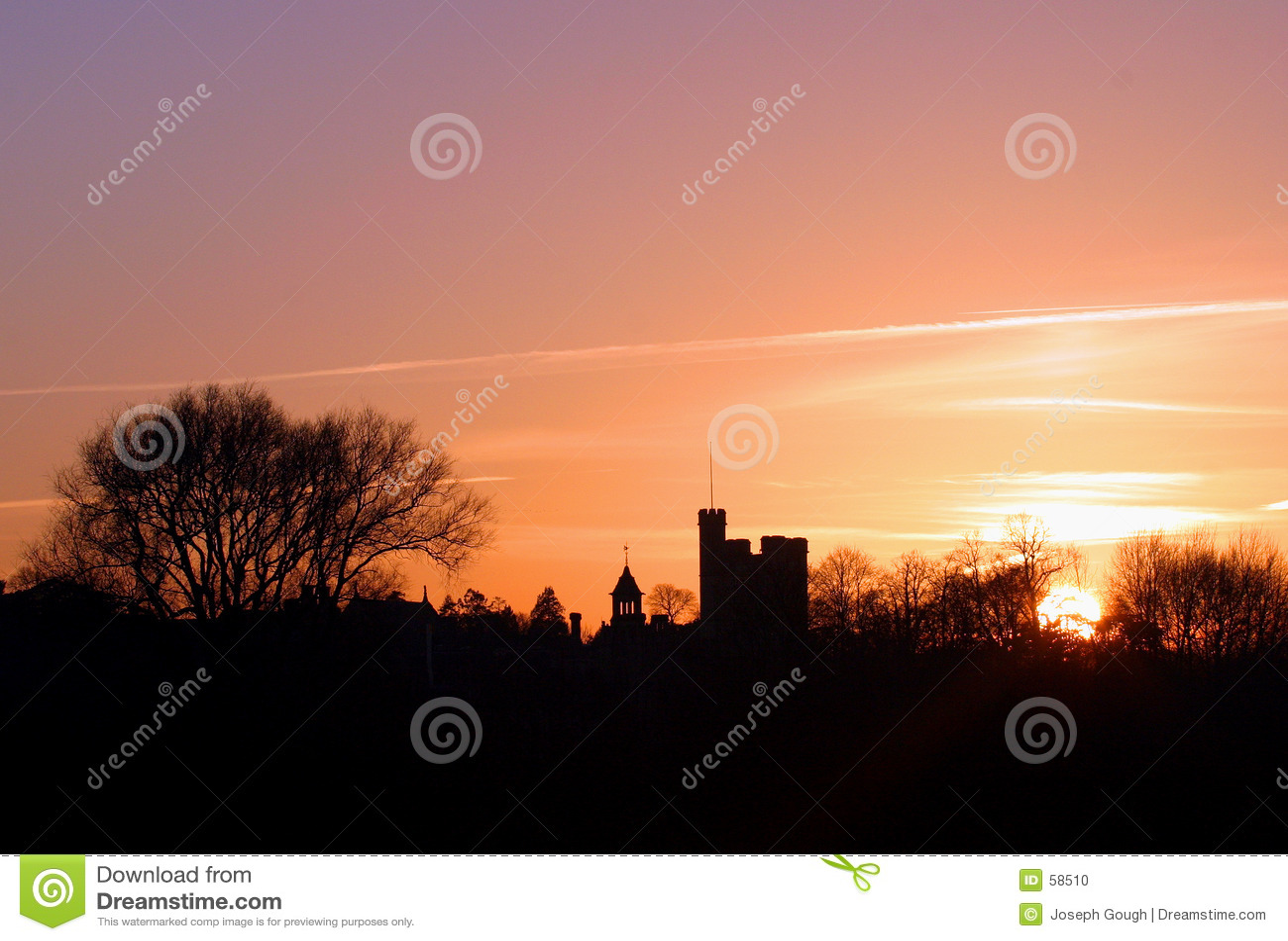 Horizon bij zonsondergang
