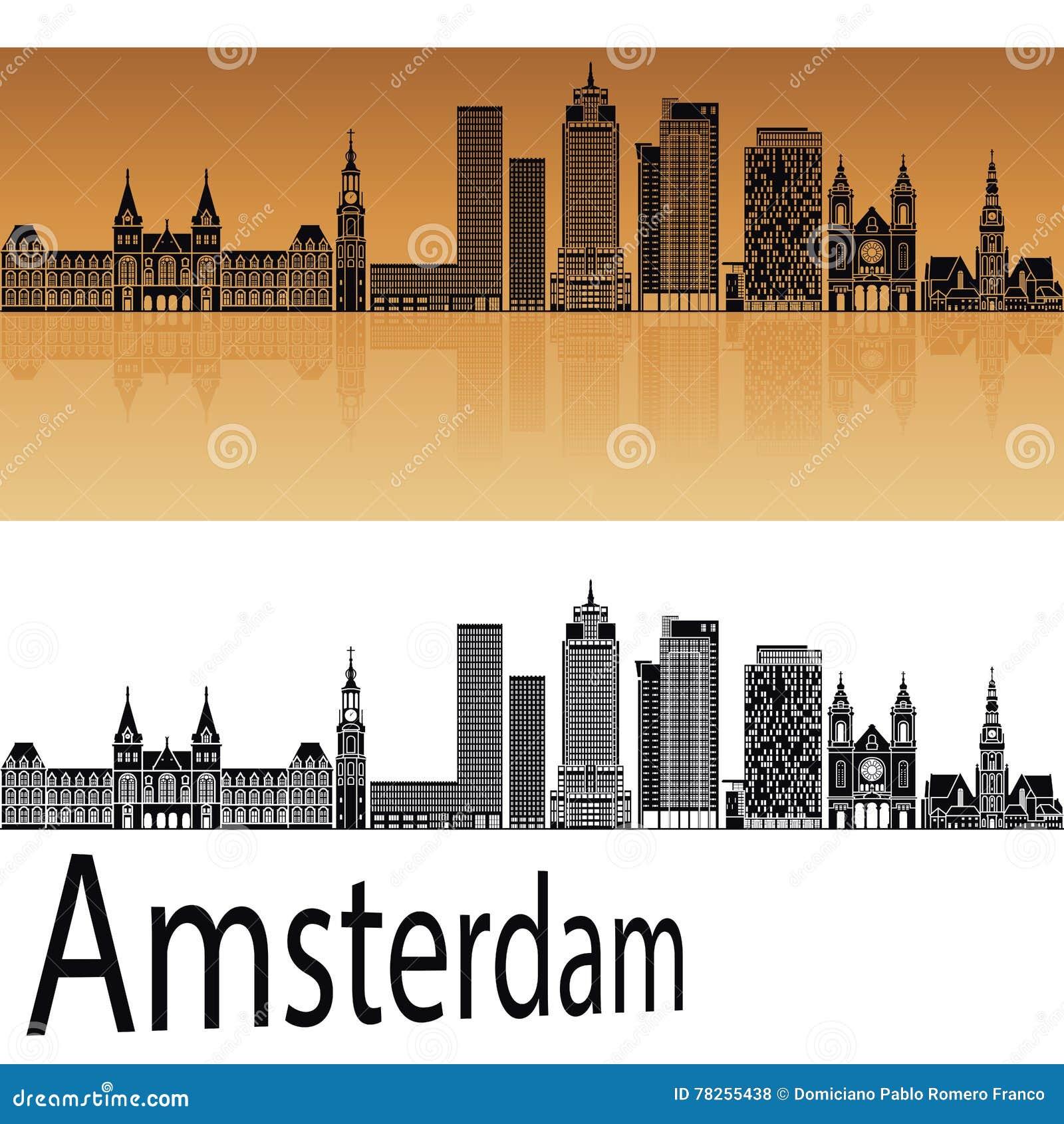 Horizon d Amsterdam V2 dans l orange