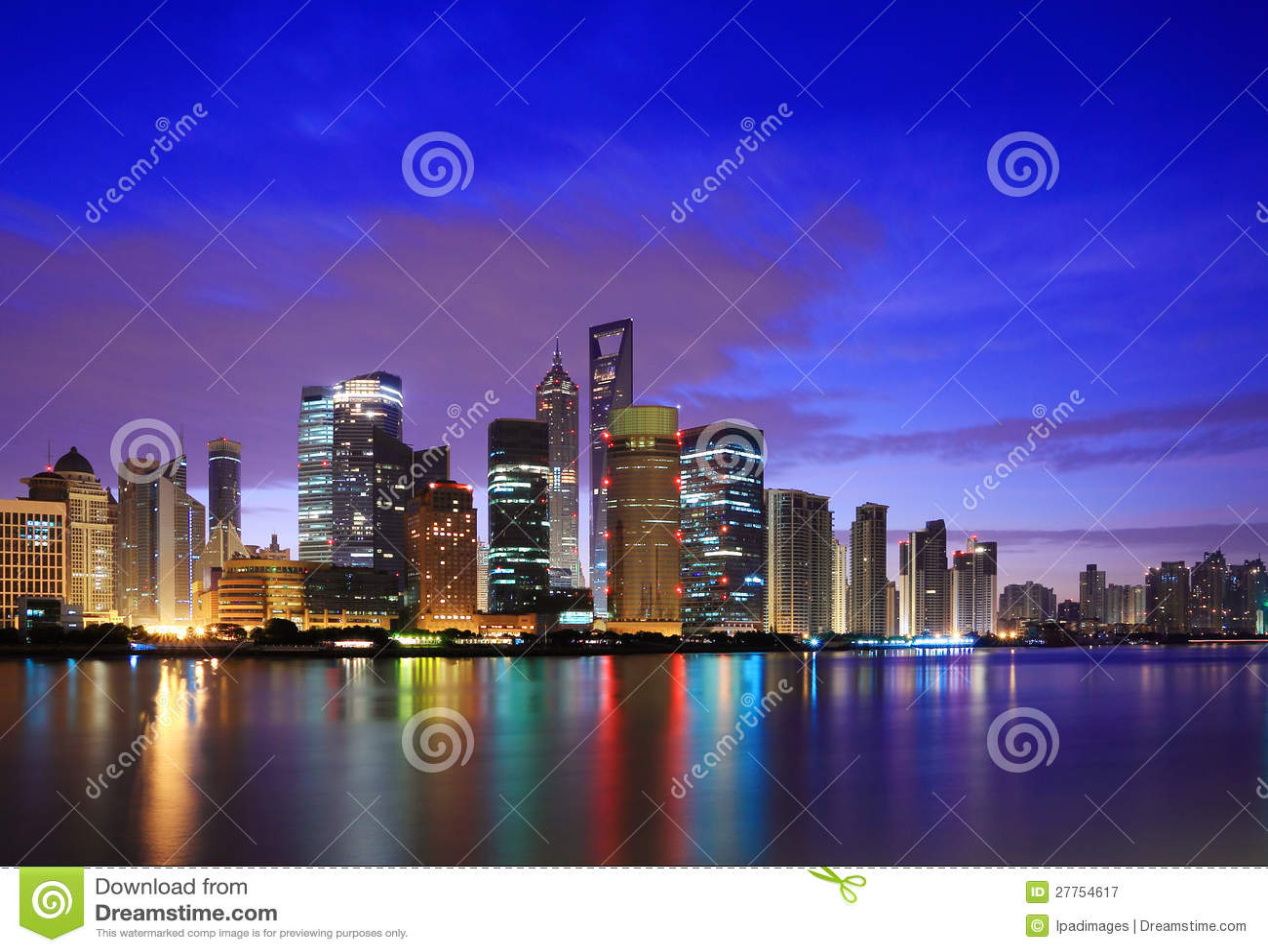 Horizon de borne limite de Changhaï à l aube