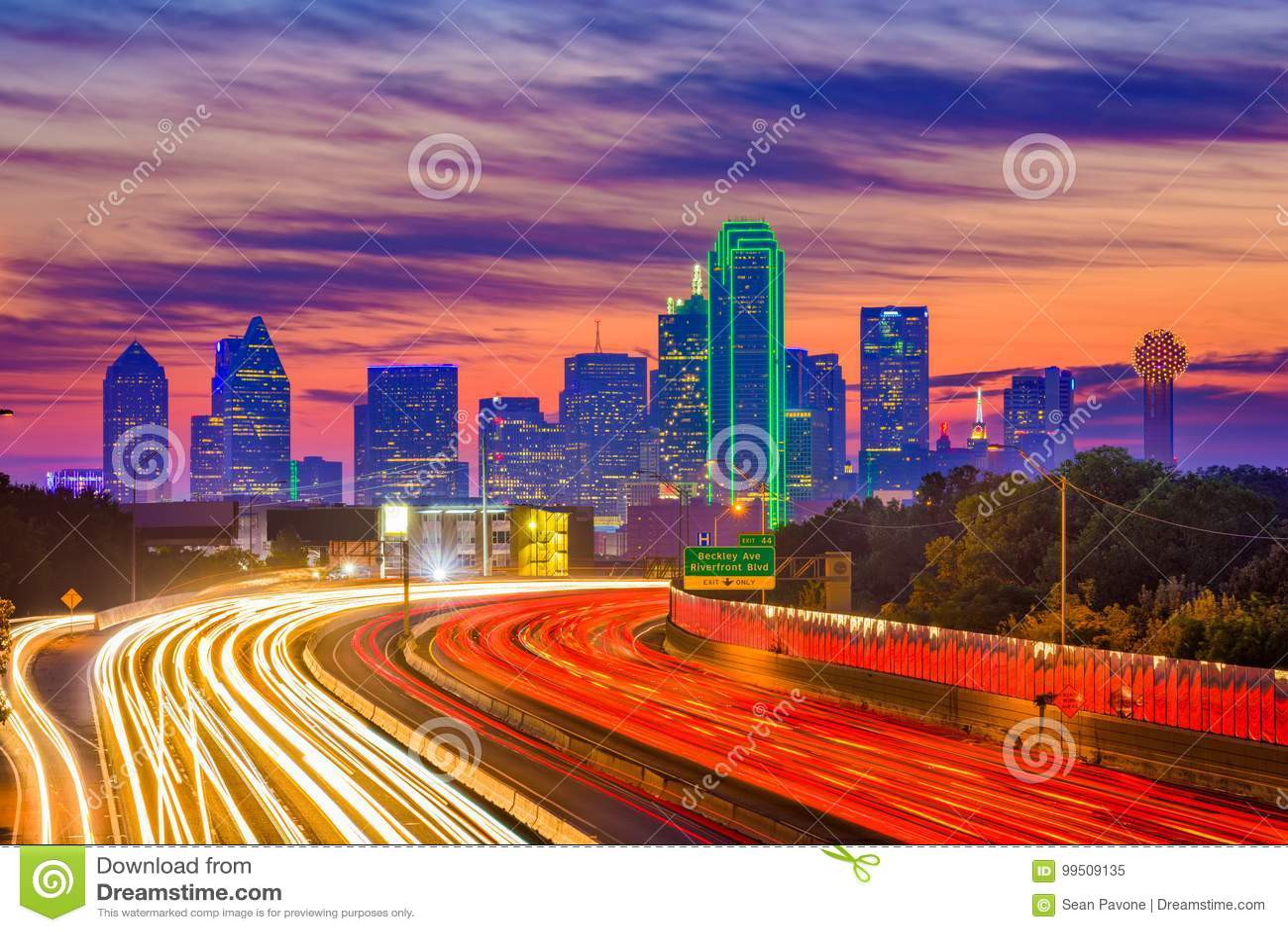 Horizon de Dallas, le Texas