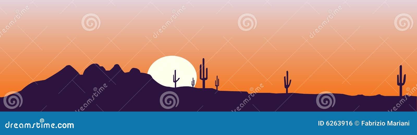 Horizon de l Arizona au coucher du soleil