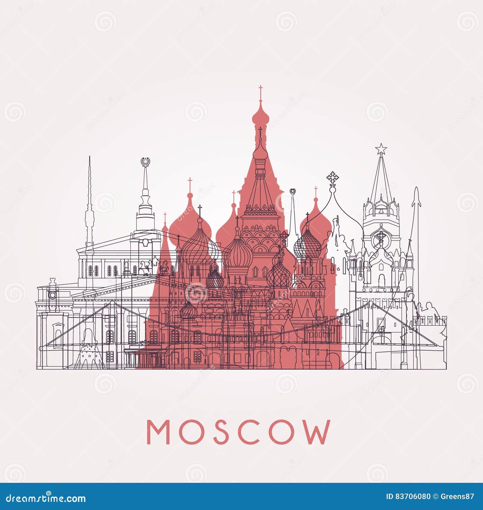Horizon de Moscou d ensemble