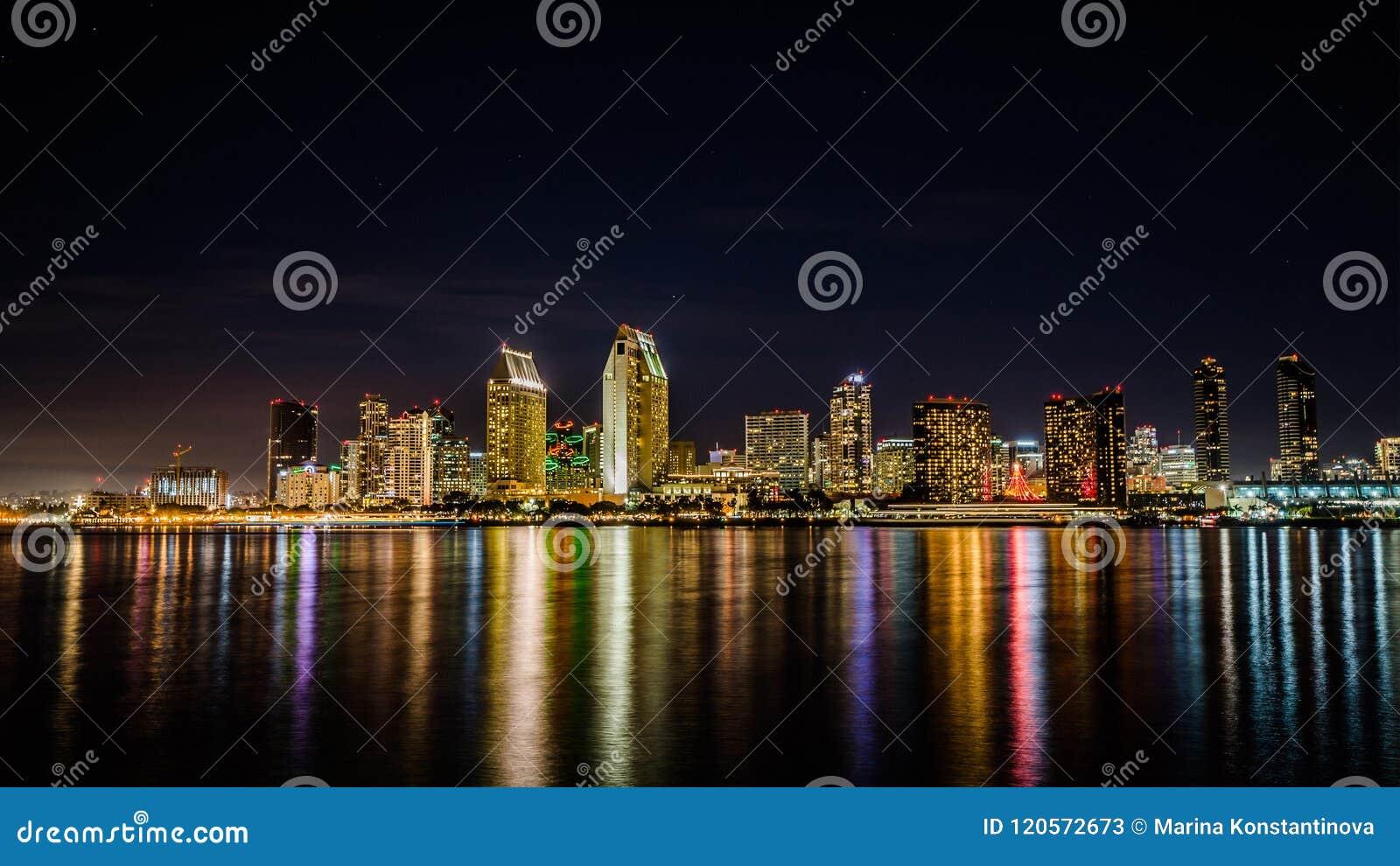 Horizon de San Diego la nuit