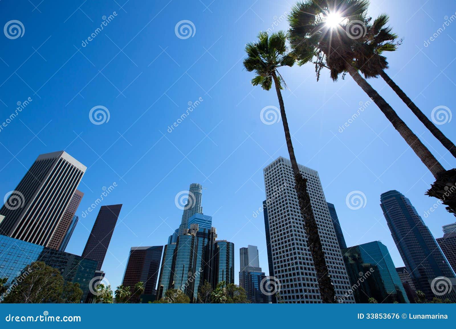 Horizon de van de binnenstad Californië van La Los Angeles van fwy 110