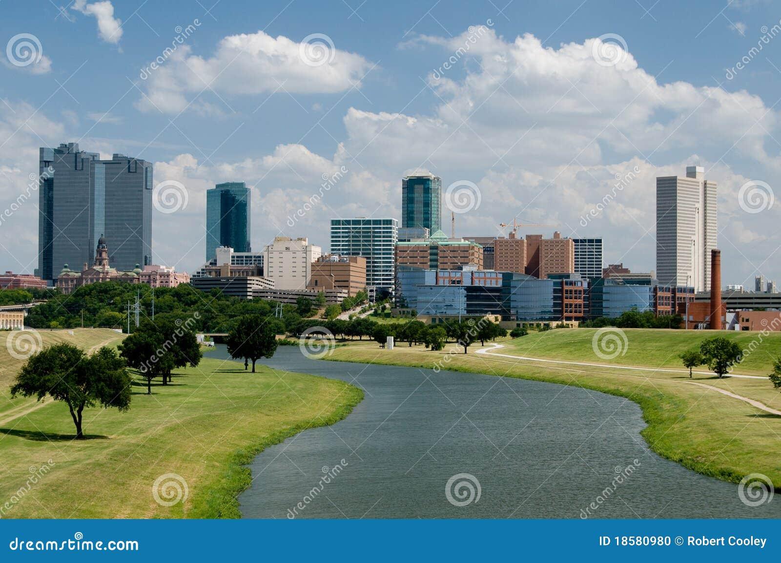 Horizon de van de binnenstad van Fort Worth