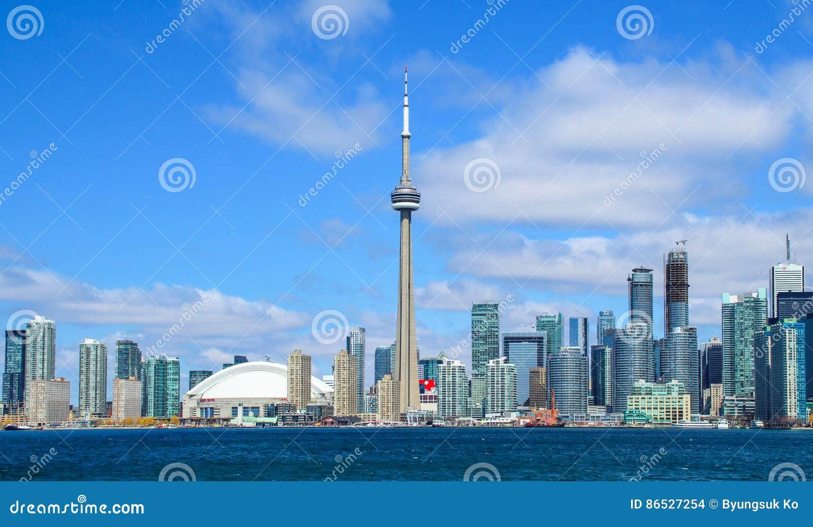 Horizon de van de binnenstad van Toronto