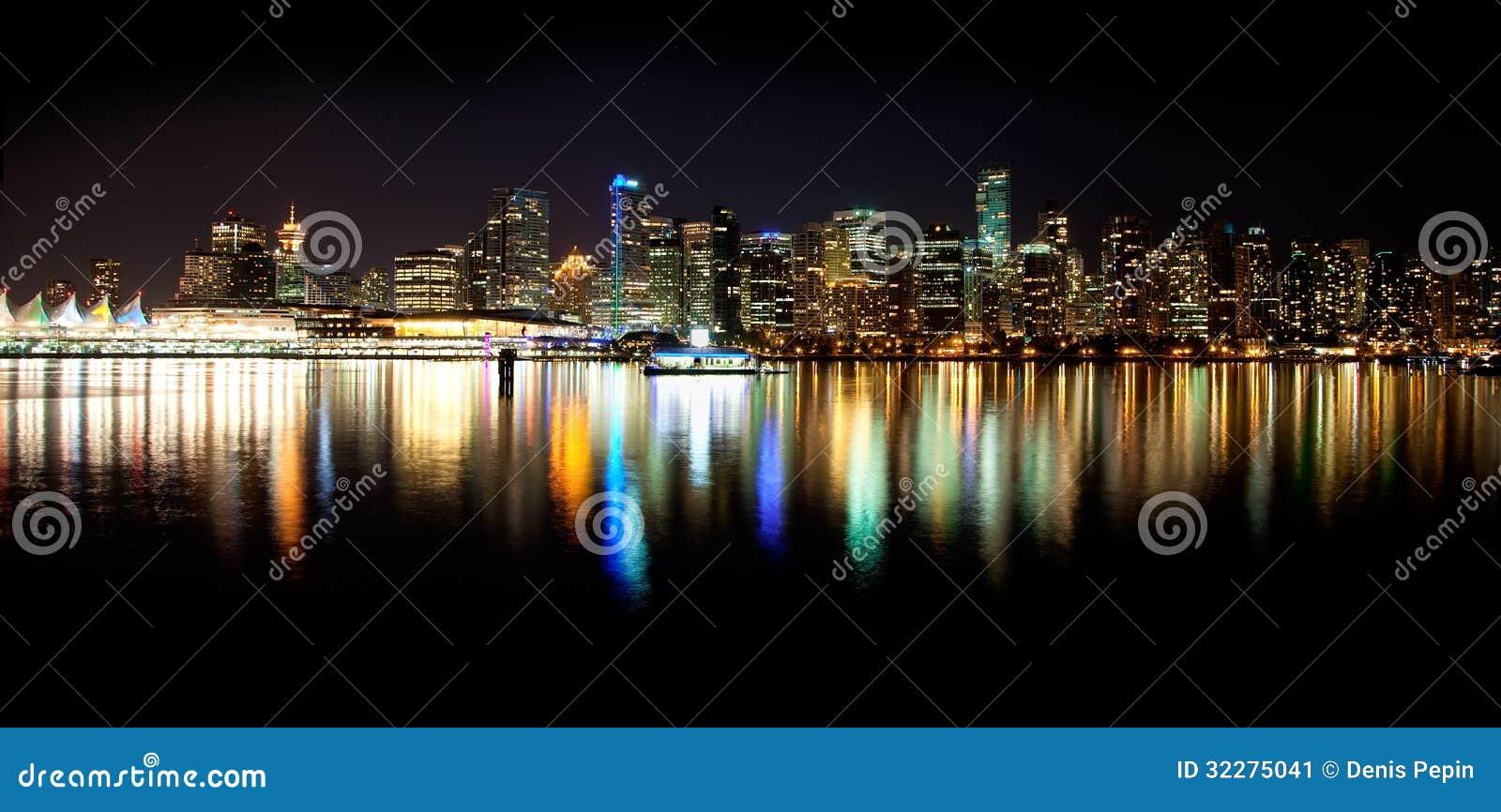 Horizon de Vancouver la nuit