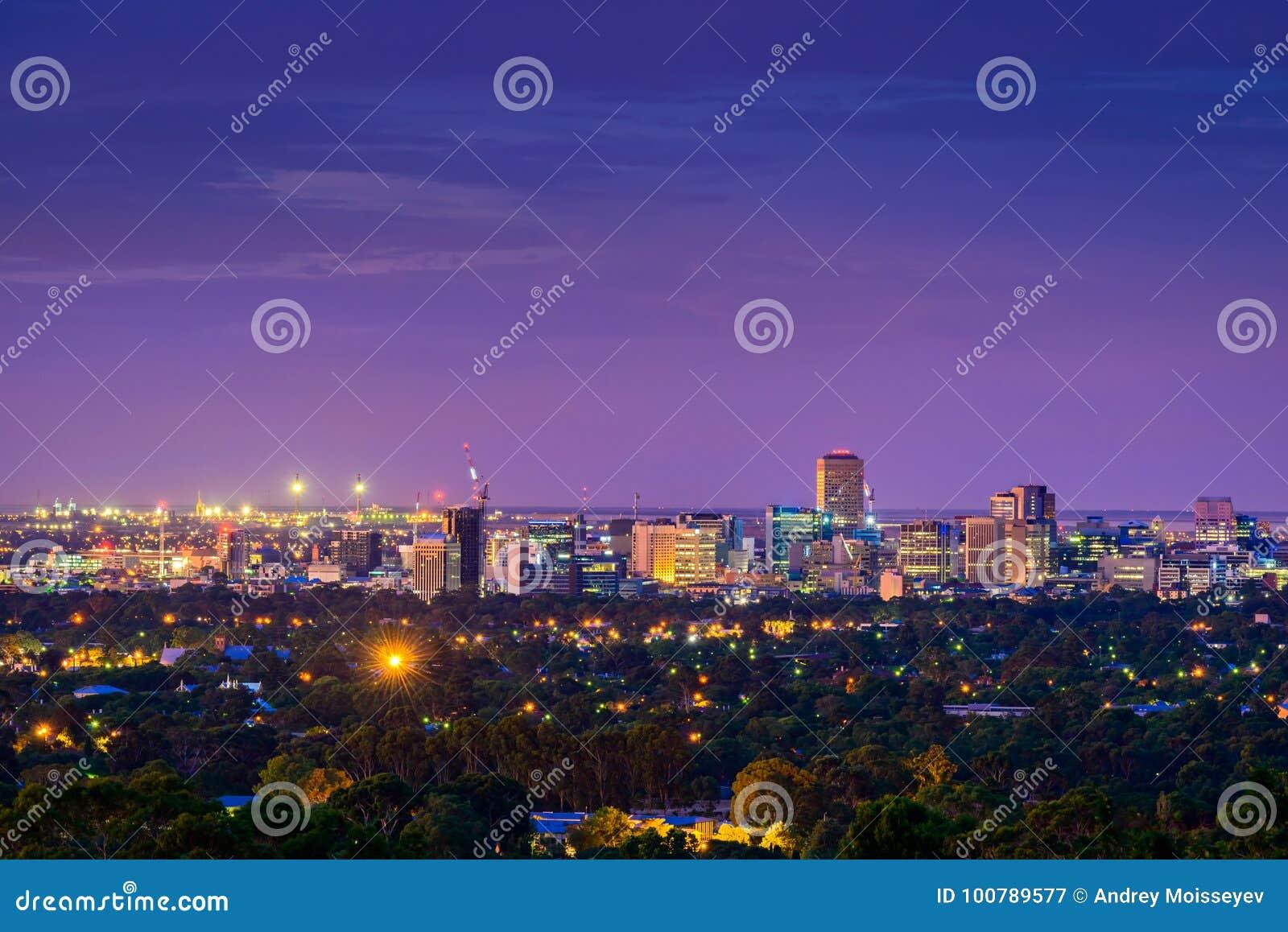 Horizon de ville d Adelaïde