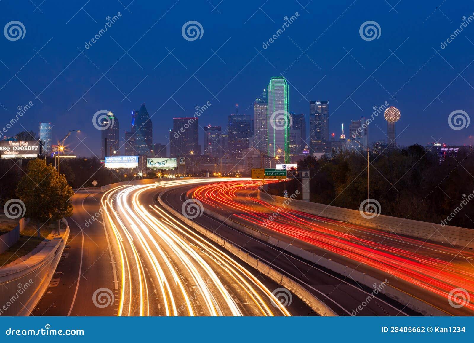 Horizon de ville de Dallas