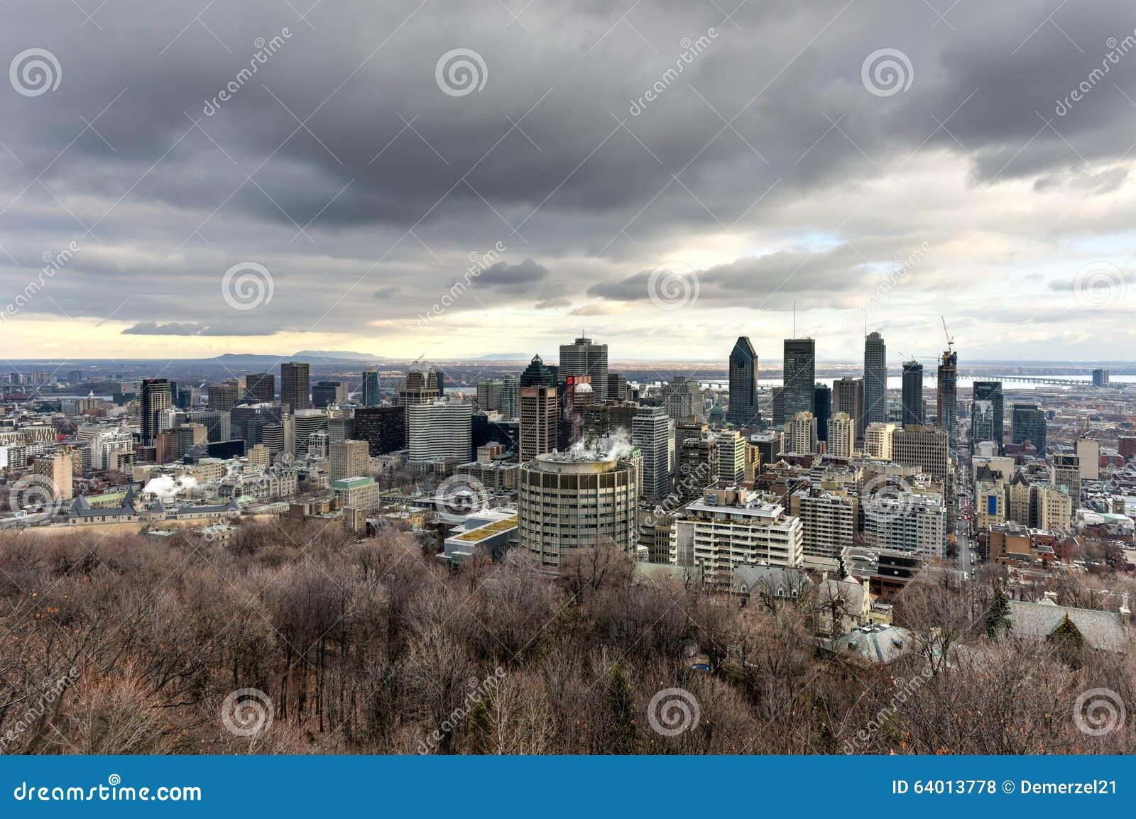 Horizon de ville de Montréal