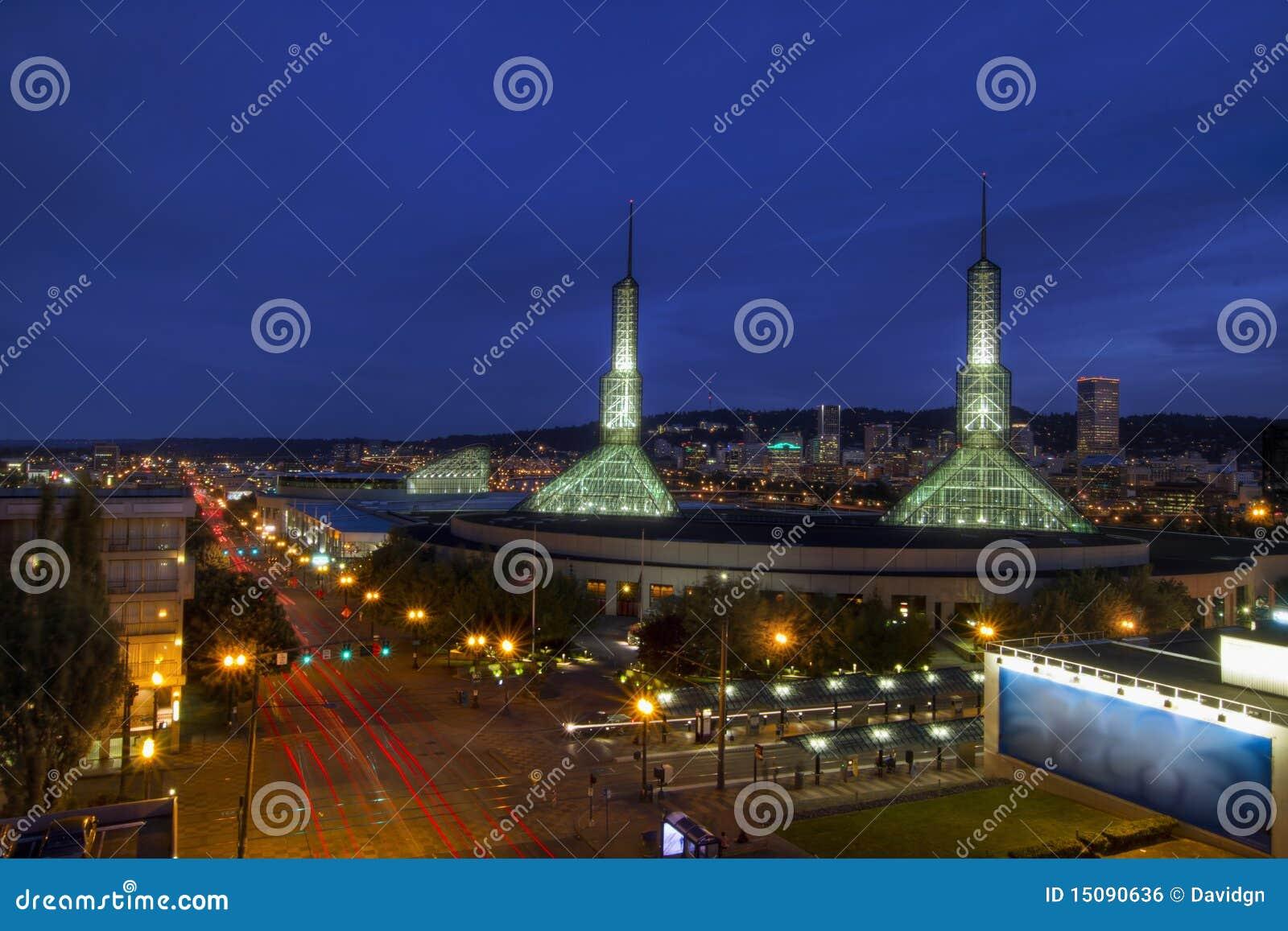 Horizon du centre de Portland Orégon à l heure bleue 2