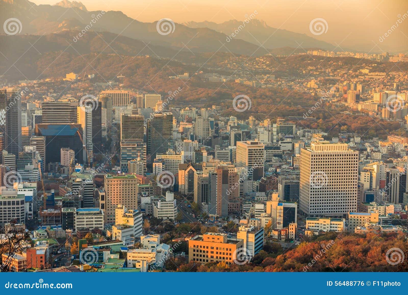 Horizon du centre de Séoul, Corée du Sud