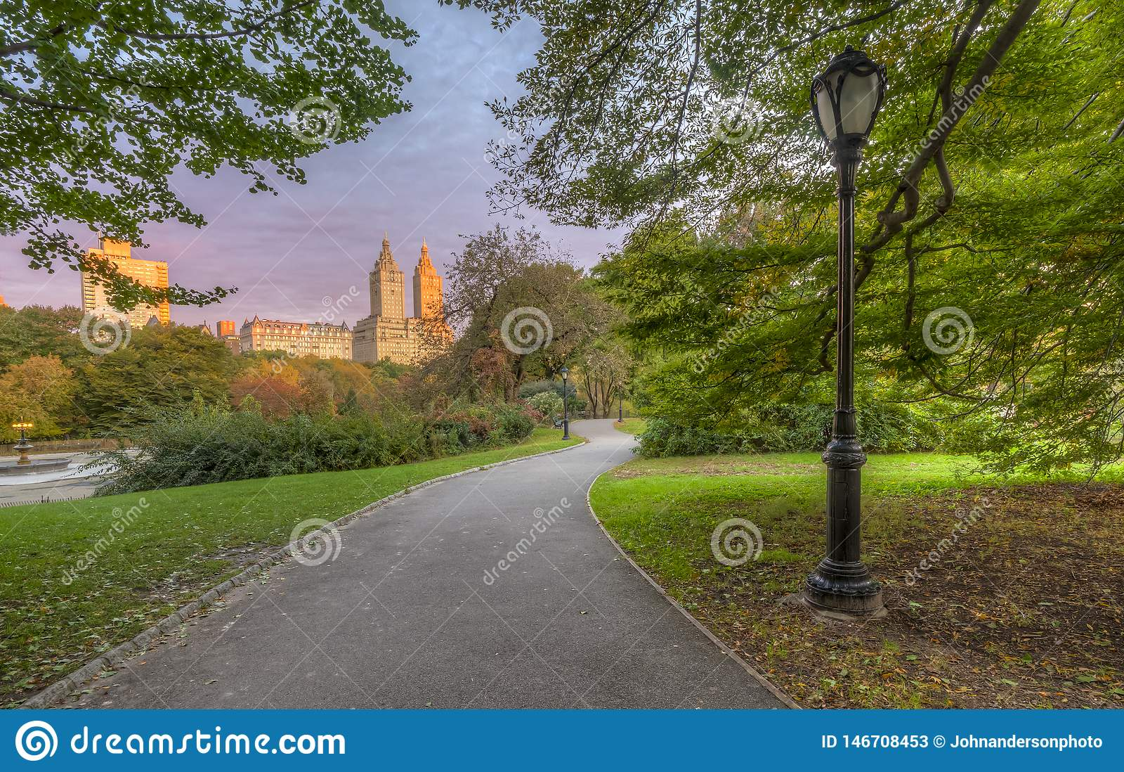 Horizon et Central Park de New York City en automne