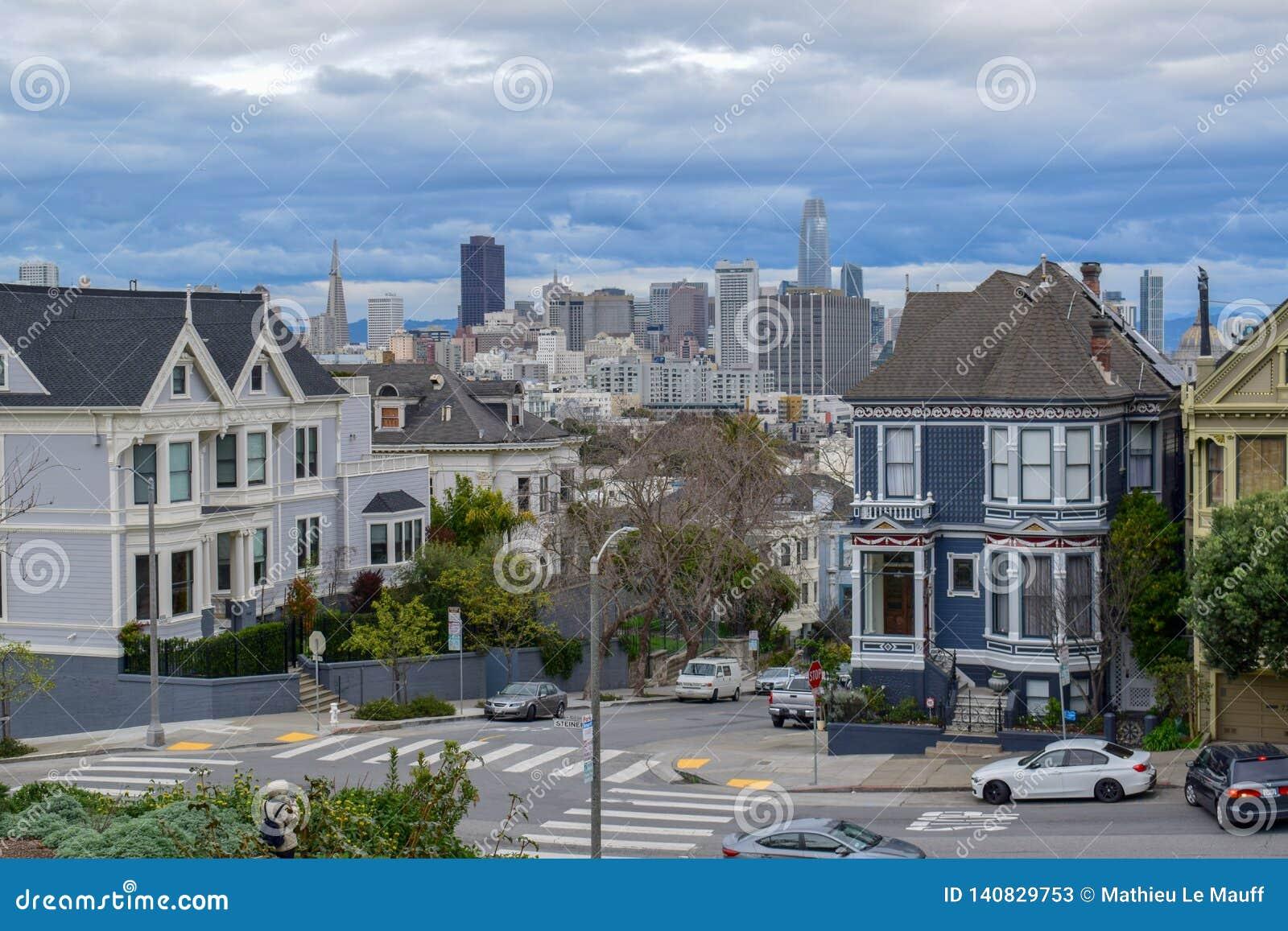Horizon financier de secteur de place d Alamo, San Francisco
