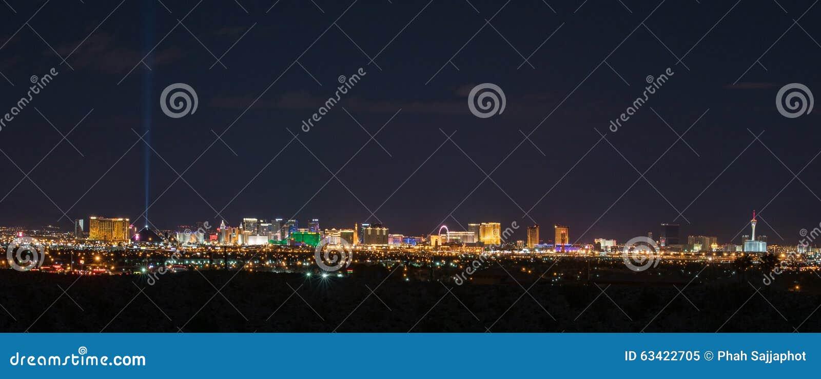 Horizon panoramique de Las Vegas