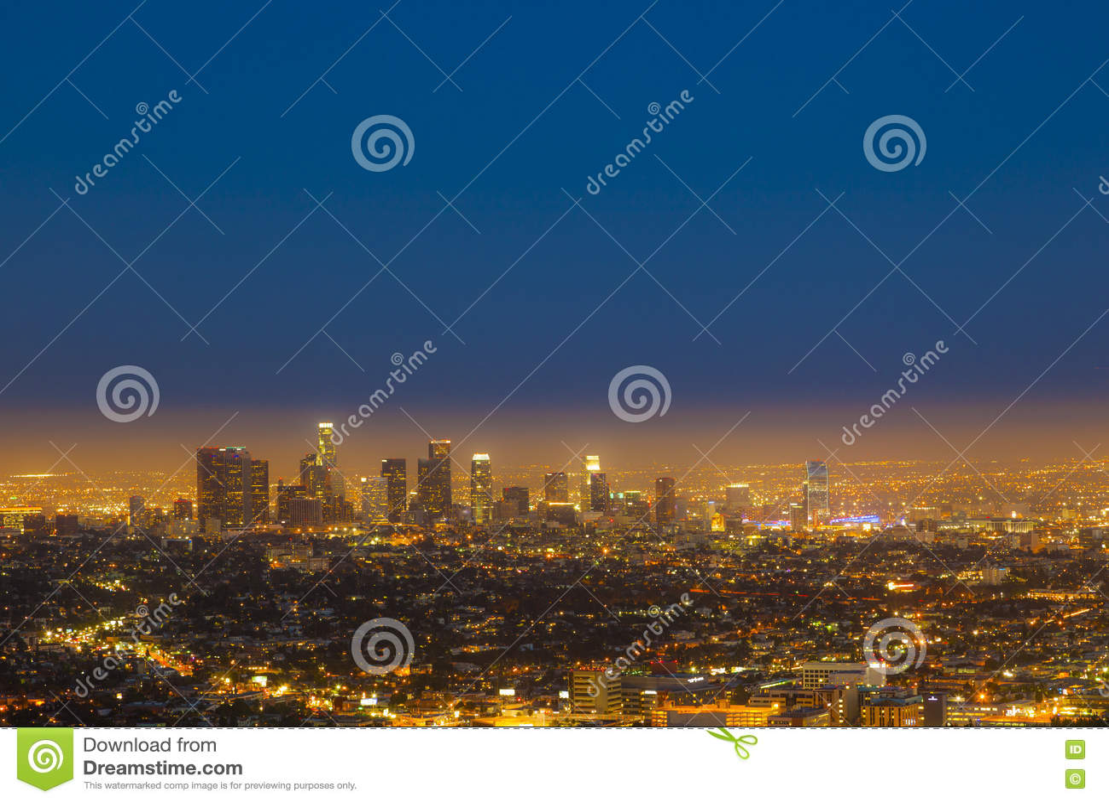 Horizon van  s nachts Los Angeles