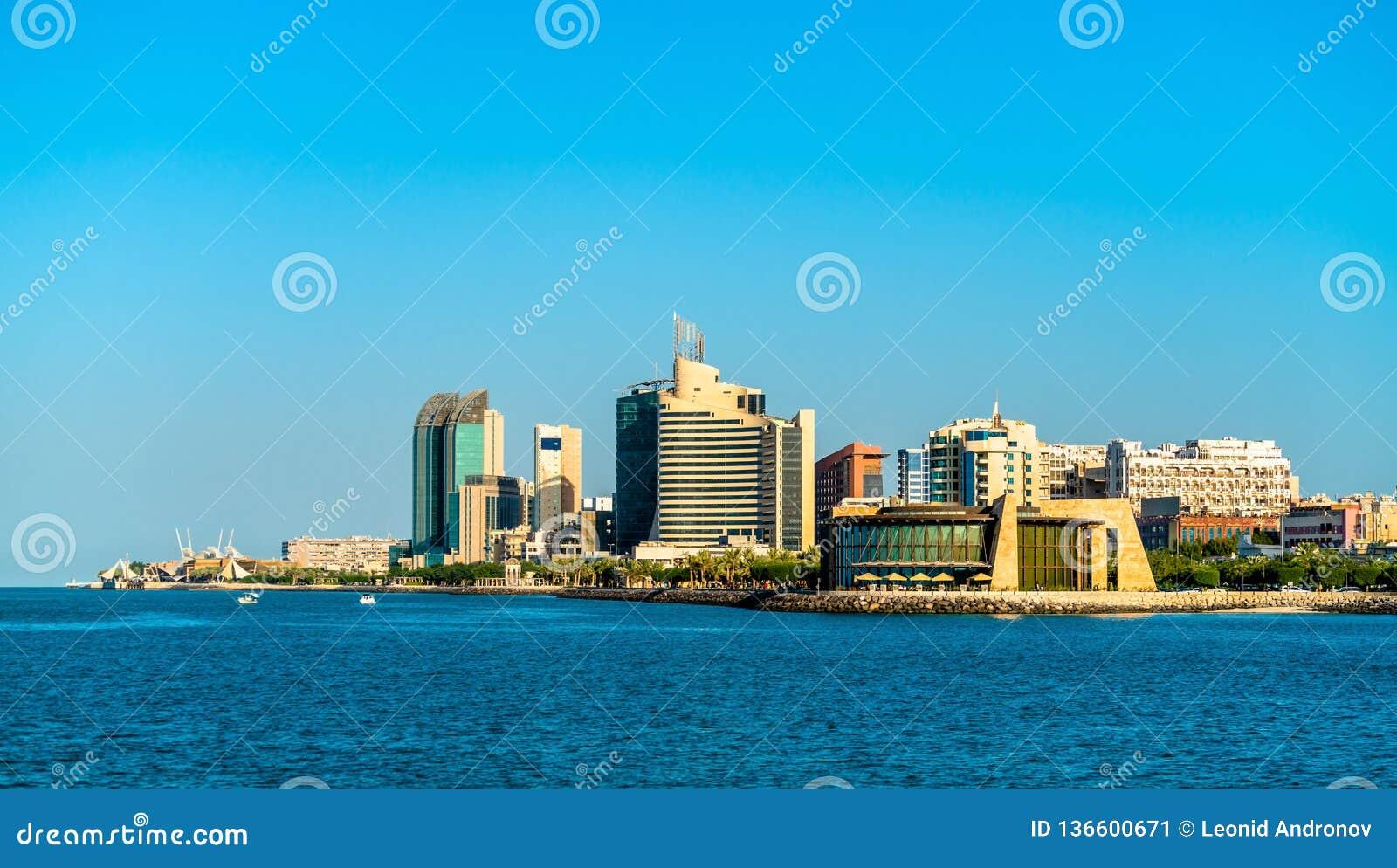 Horizon van Salmiya in Koeweit